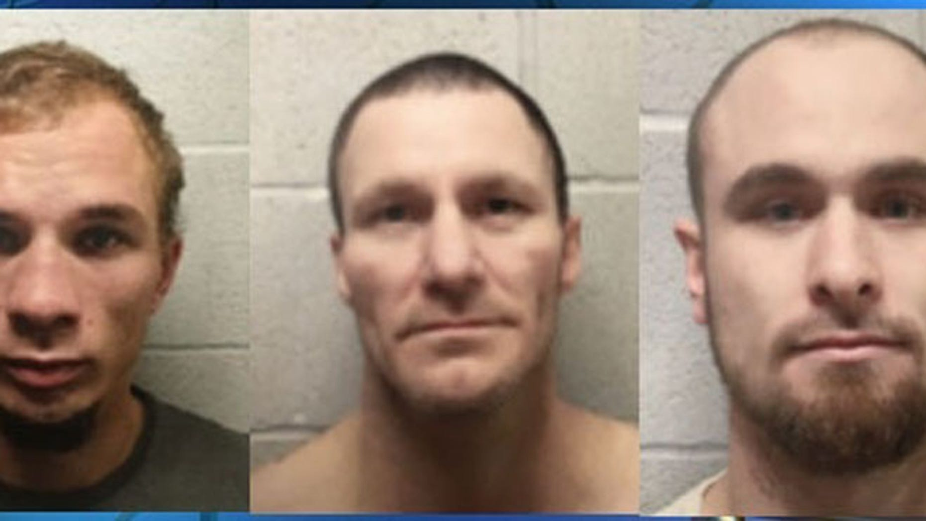 Brian Allen Moody, 23, Sonny Baker, 41, and Mark Dwayne Robbins, 23, escaped from the Lincoln County jail in Oklahoma Thursday.
