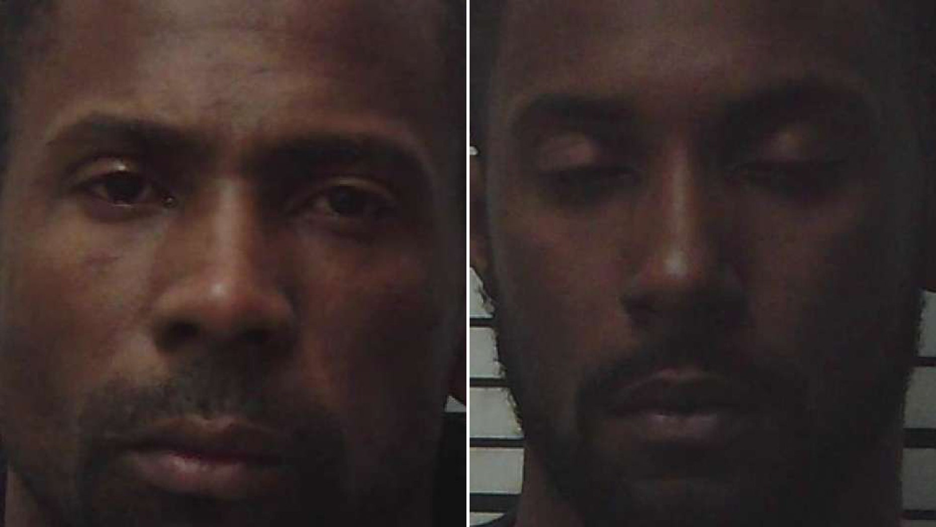 Eugene Lamar Mitchell, left, and Travion Terrell Hall escaped Tuesday.