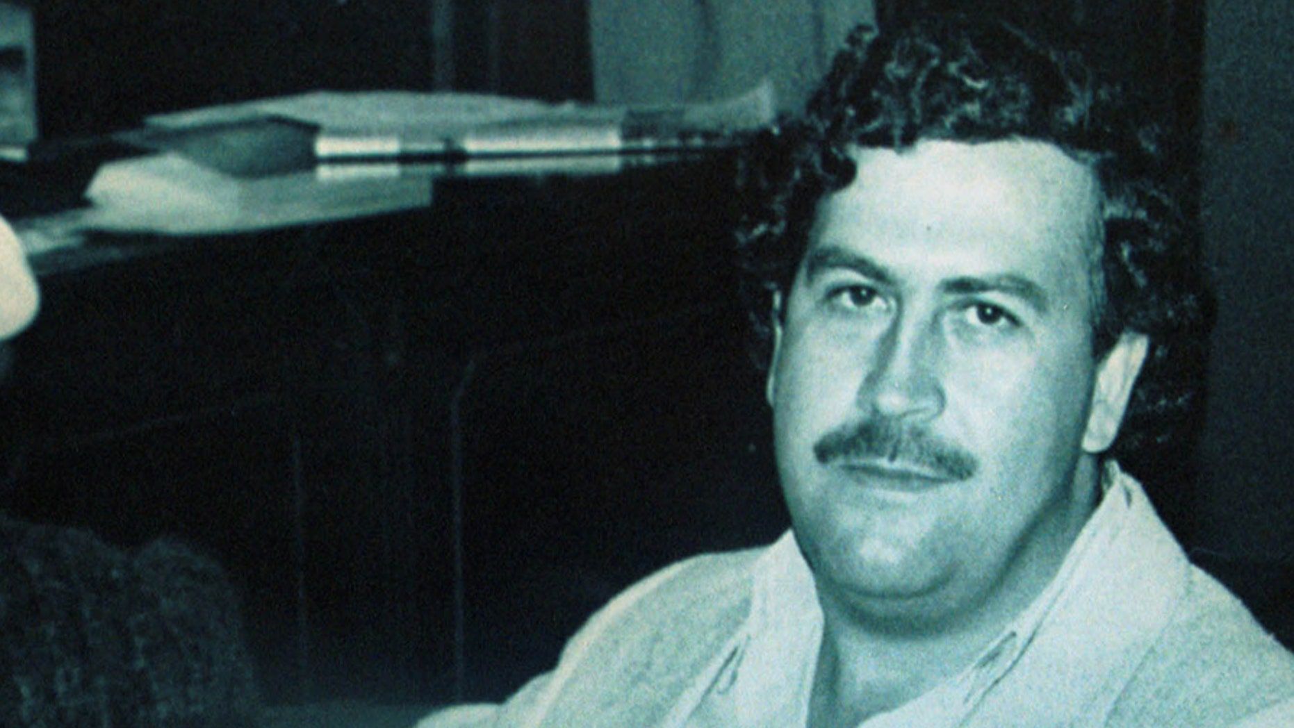 Colombian drug lord Pablo Escobar appears in this file photograph when Escobar was a member of the Colombian Congress in 1983. T
