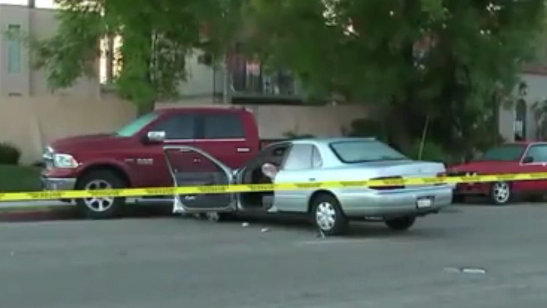 The scene of the gunfire in Escondido.