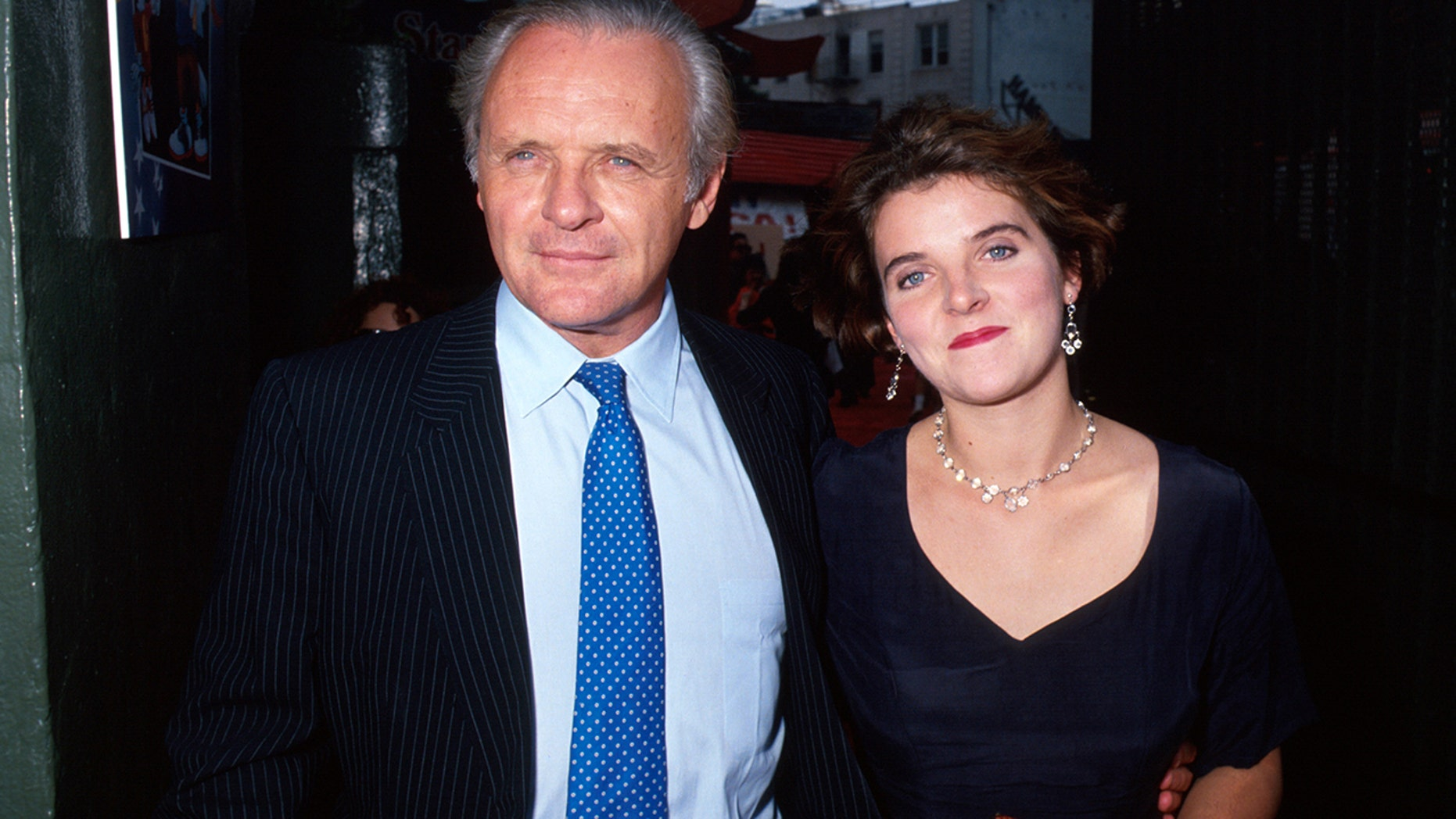 Actor Anthony Hopkins and his daughter Abigail pictured here in 1991. The father-and-daughter duo have been estranged for 20 years.