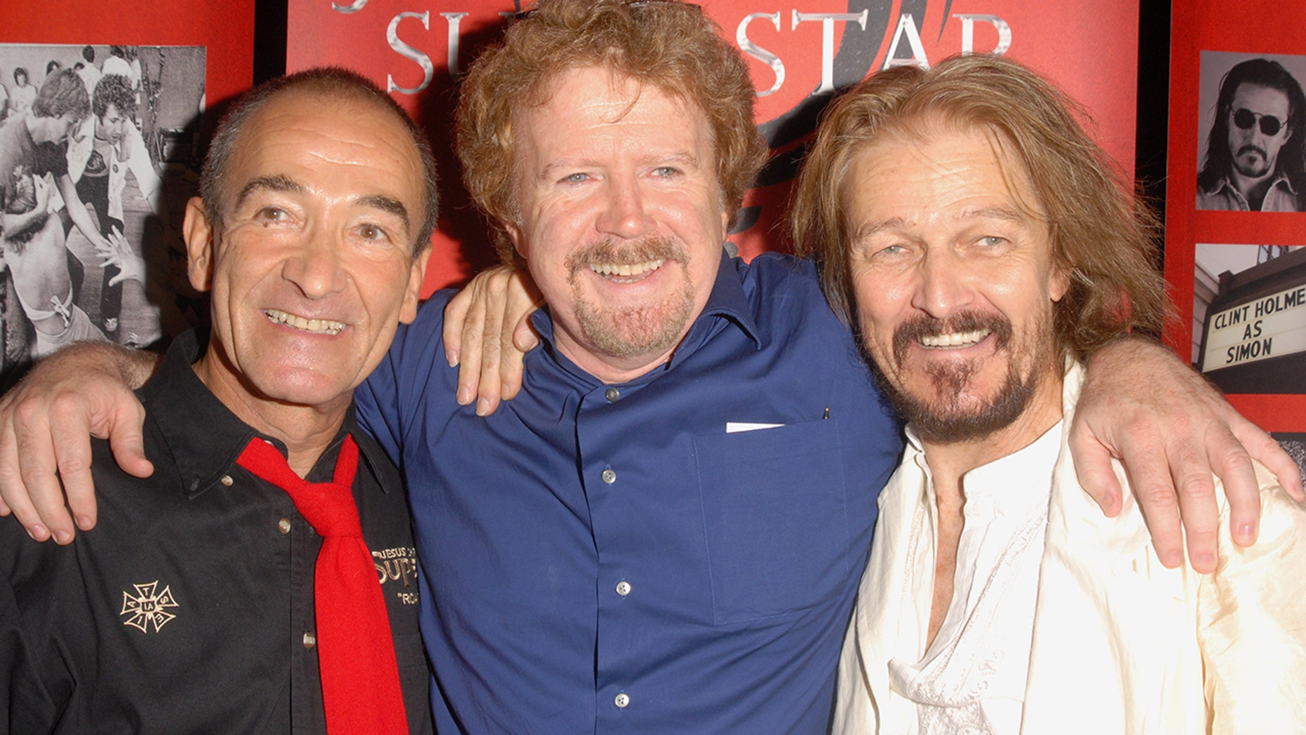 Barry Dennen, director Gary Goddard and Ted Neeley at the Ricardo Montalban Theatre in Los Angeles, California.