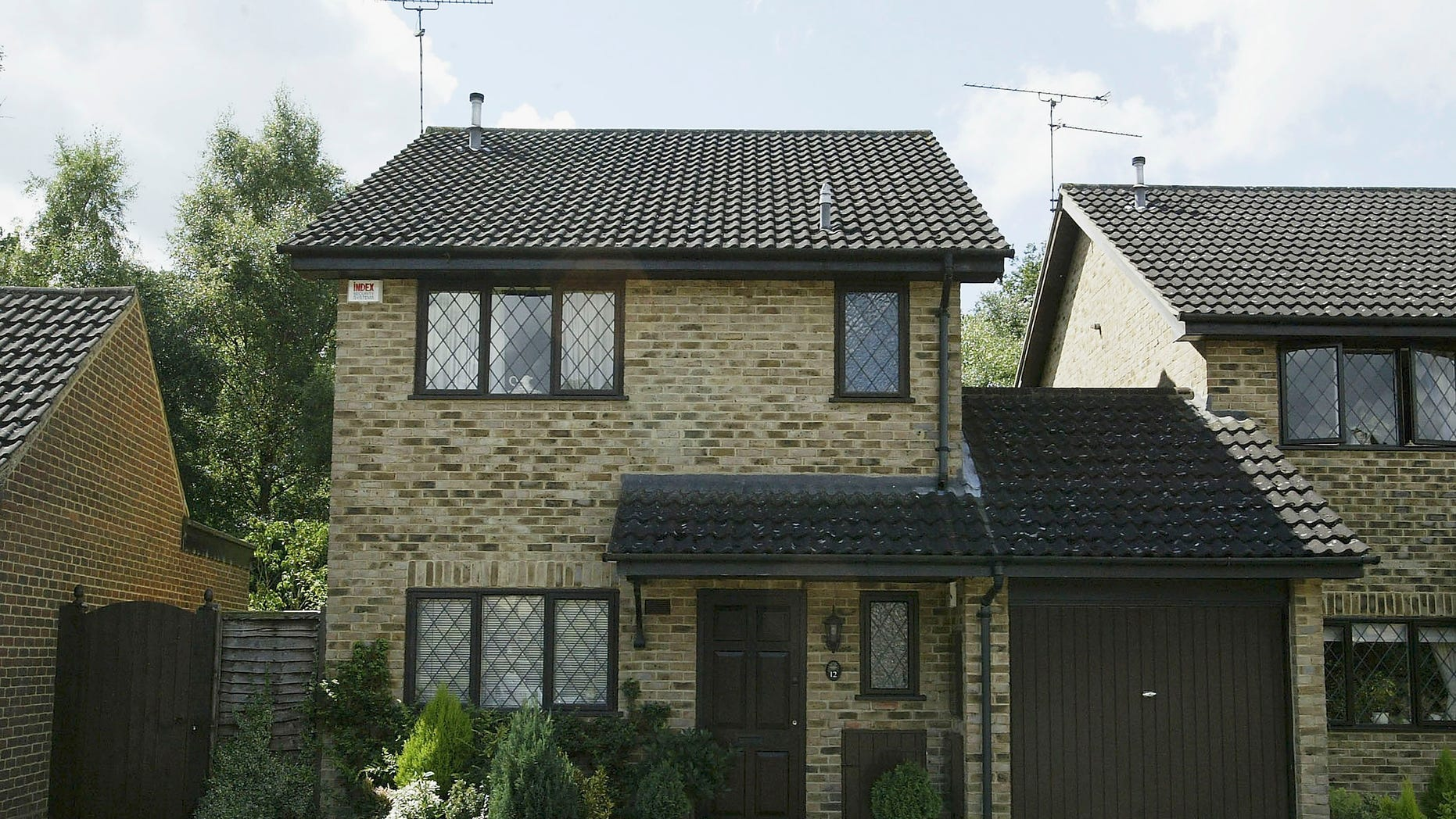 The facade of the house where Harry POtter lived in the Warner Brothers film series in Bracknell, England.