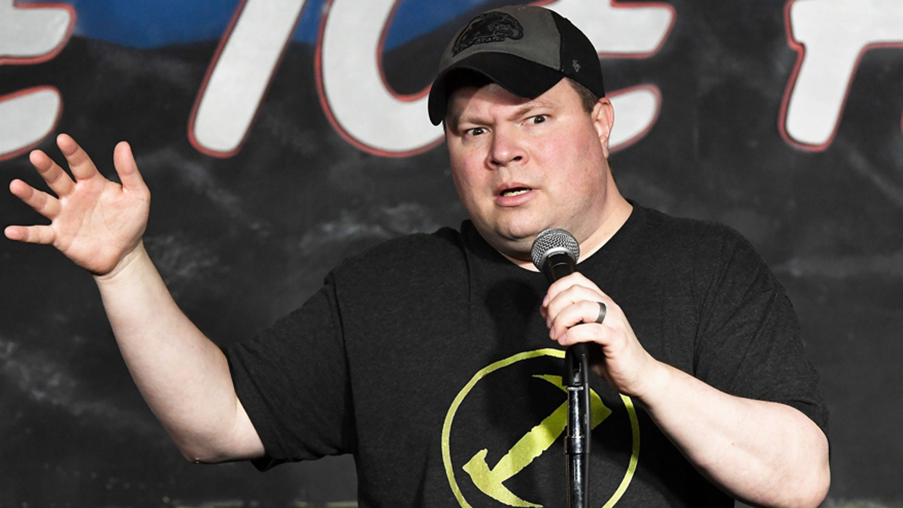 Comedian John Caparulo performs during his appearance at The Ice House Comedy Club on February 11, 2017 in Pasadena, California.