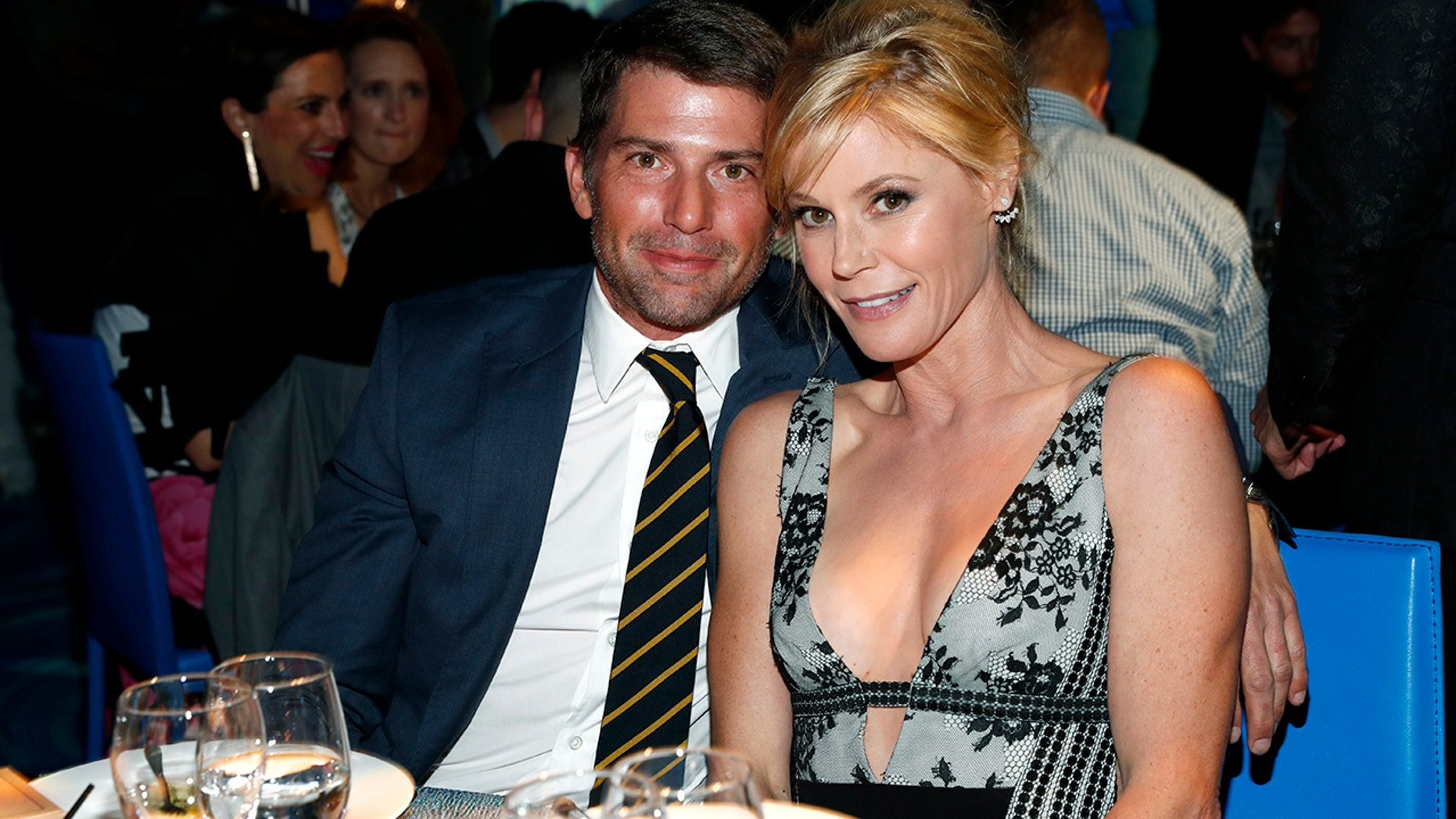 Scott Phillips (L) and actress Julie Bowen attend the Los Angeles LGBT Center 47th Anniversary Gala Vanguard Awards at Pacific Design Center on September 24, 2016 in West Hollywood, California.