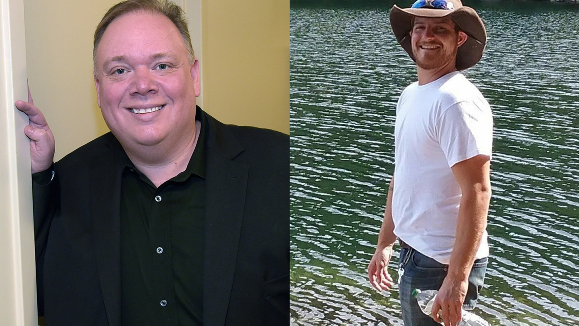 Disgraced Nashville publicist Kirt Webster (l) has been accused by former intern Cody Andersen (r) of propositioning him for sex.