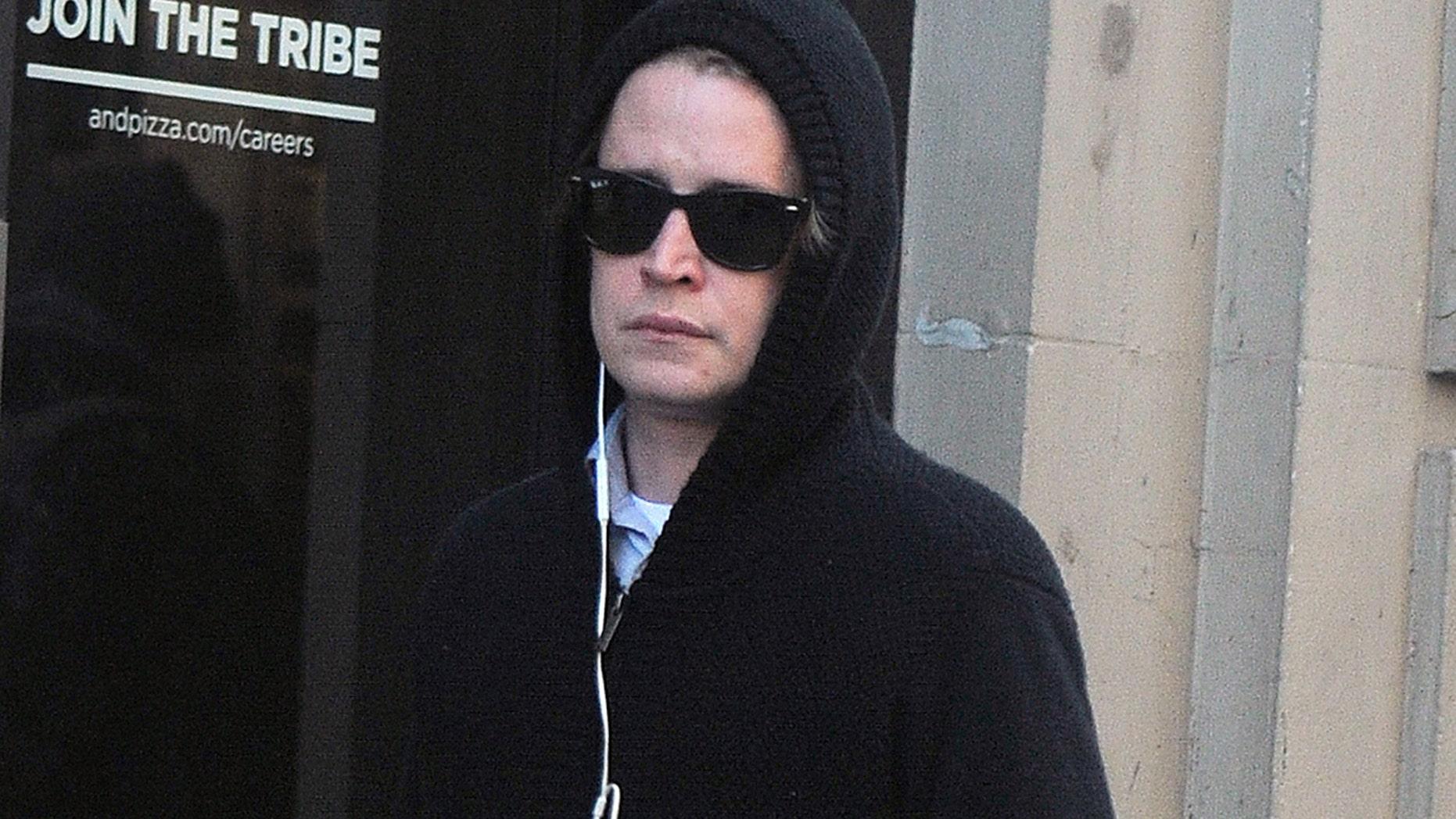 Macaulay Culkin seen on the streets of  Manhattan on January 18, 2018 in New York.