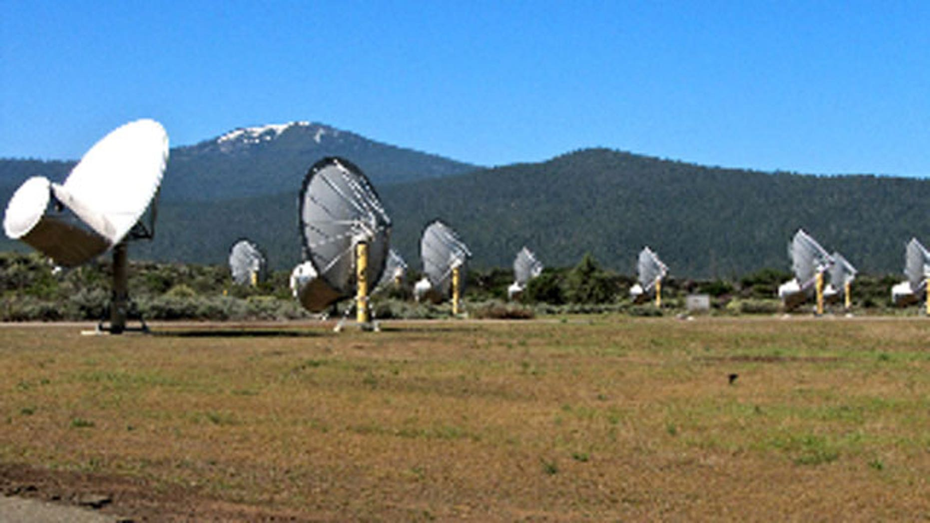 Allen Telescope Array located in Hat Creek, California.