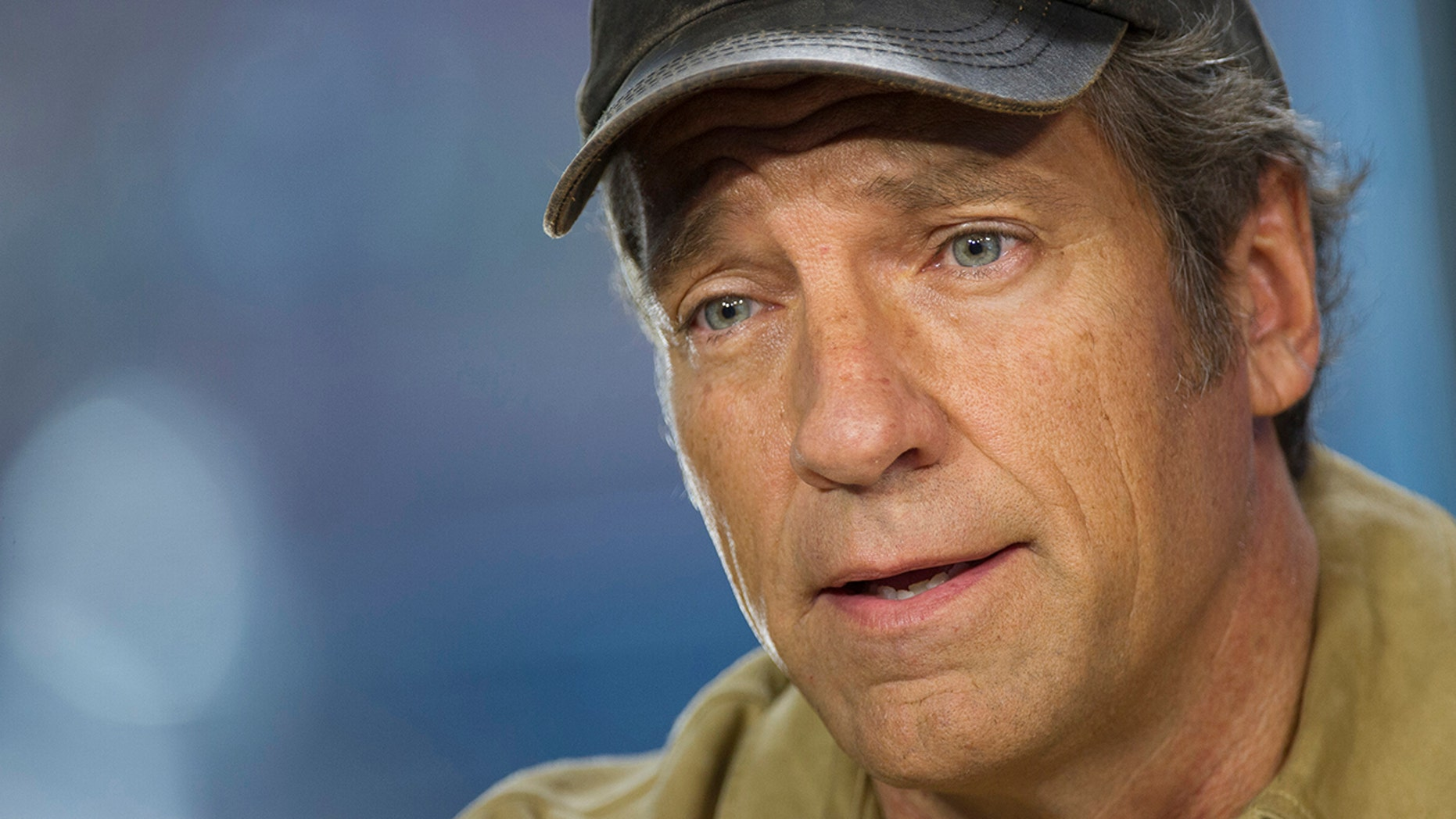 "Michael ""Mike"" Rowe, former host of ""Dirty Jobs"", speaks during a Bloomberg West Television interview in San Francisco, California, U.S., on Thursday, Feb. 27, 2014."
