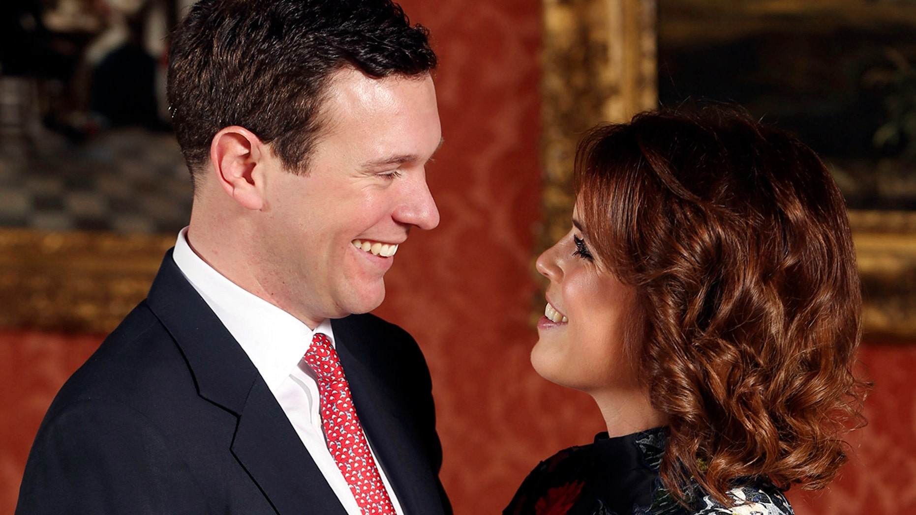 Princess Eugenie and Jack Brooksbank will marry on October 19 at St. George's chapel in Windsor. Here, the couple poses for their engagement photo on Jan. 22.