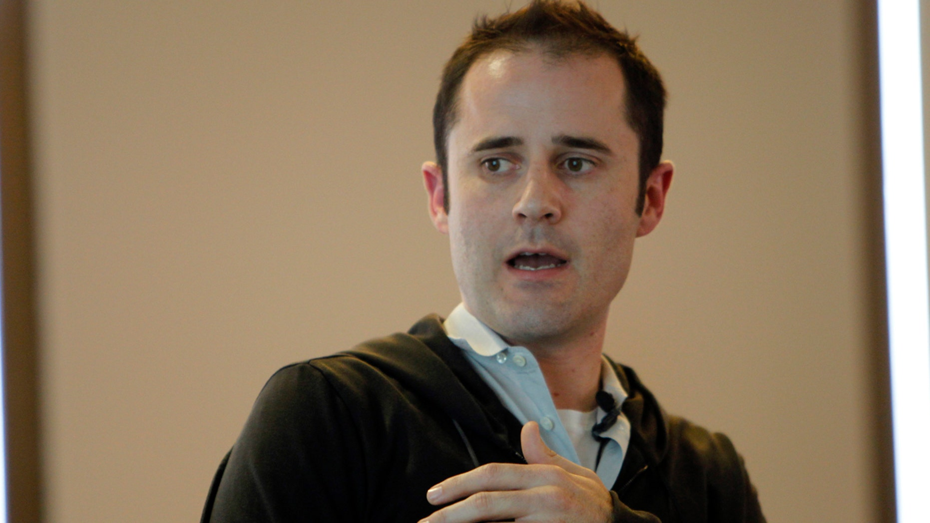 Twitter CEO Evan Williams speaks at a news conference as the website Twitter.com is launched in San Francisco, California September 14, 2010.