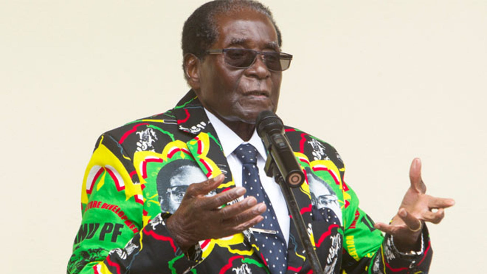 FILE: Zimbabwean President Robert Mugabe--in rare move-- had encouraging words for President Trump.
