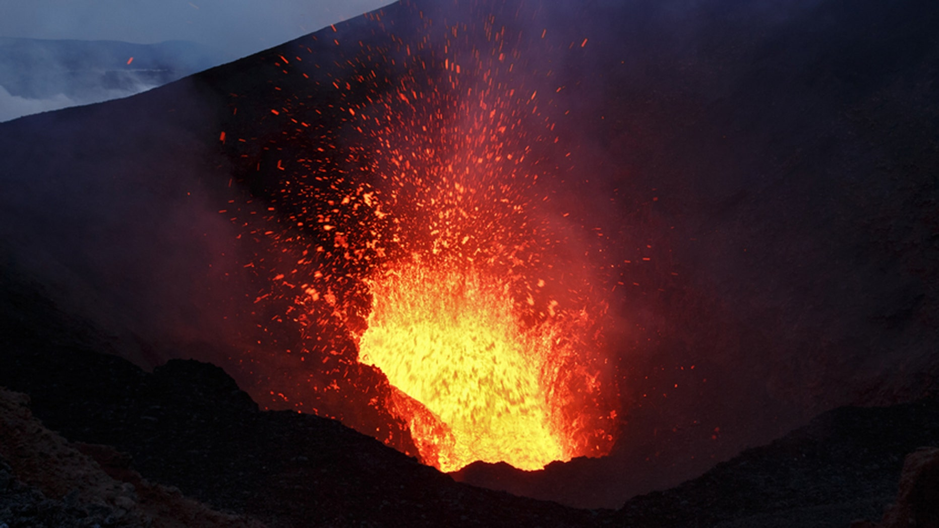 Would you jump over an active volcano?
