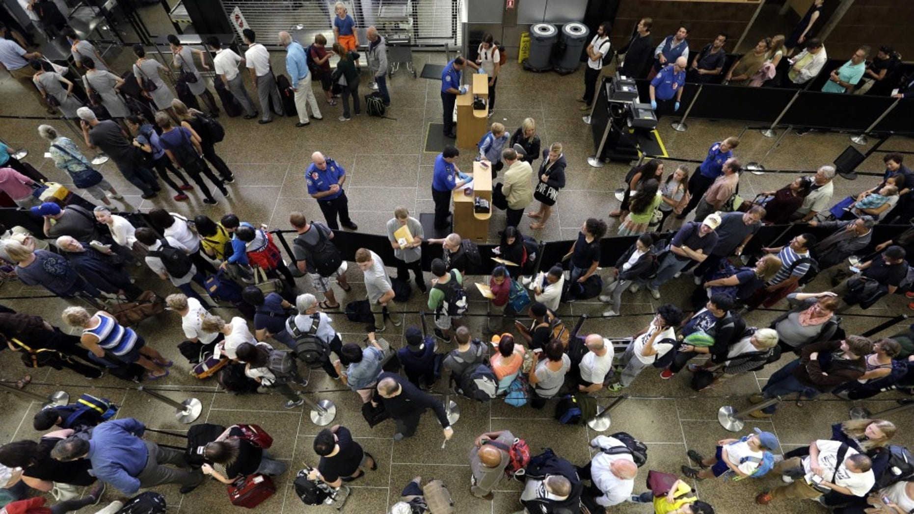 Have you been stuck in a never ending TSA line?