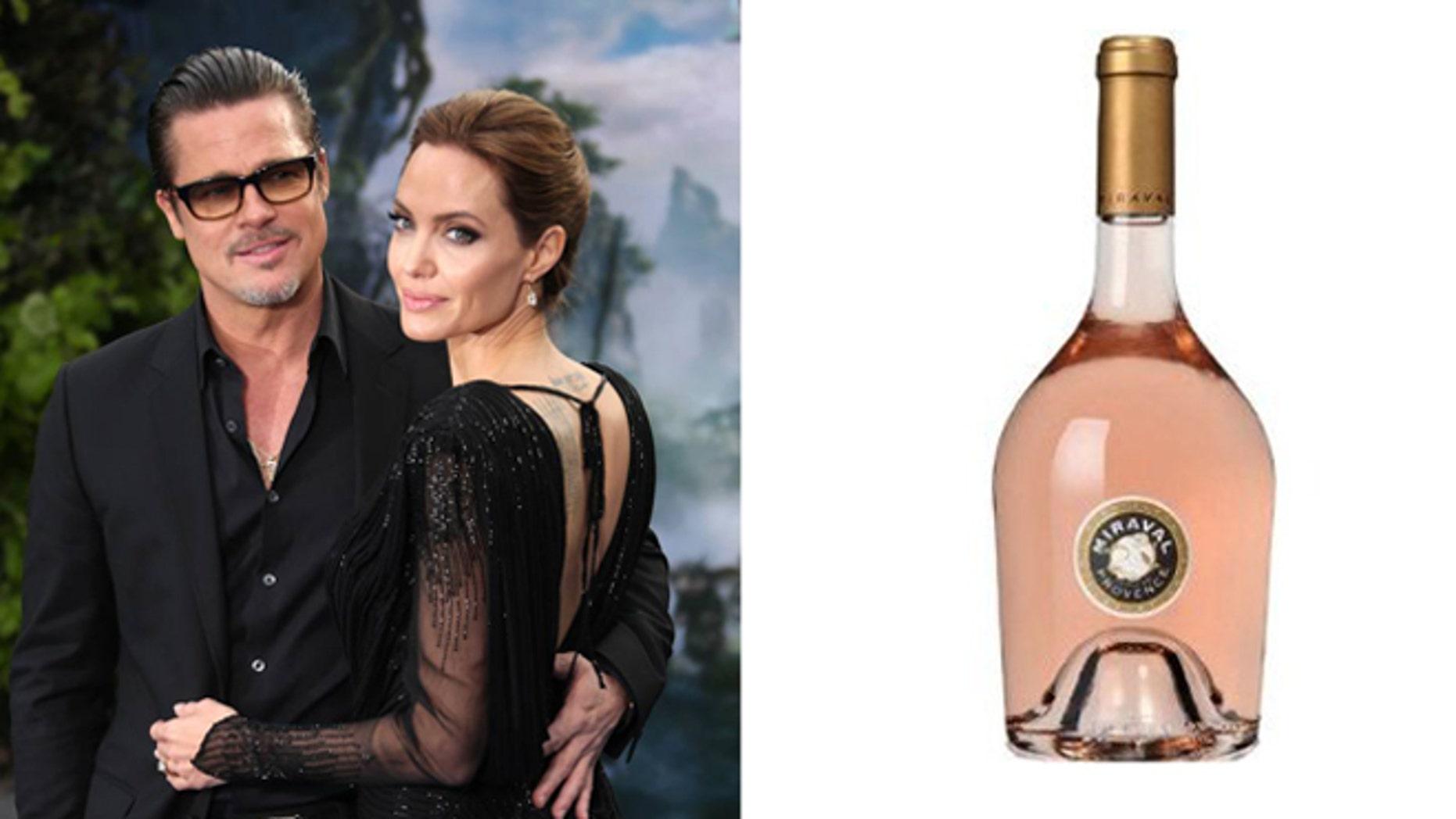 Brangelina's wine is being counterfeiter overseas.