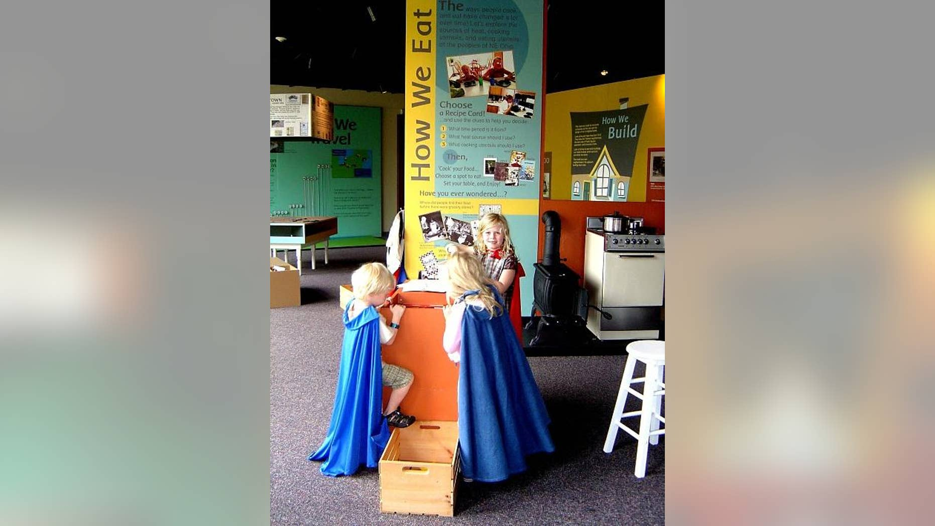 The family friendly Cleveland History Center even has a hands-on 'Kidzibits' attraction.