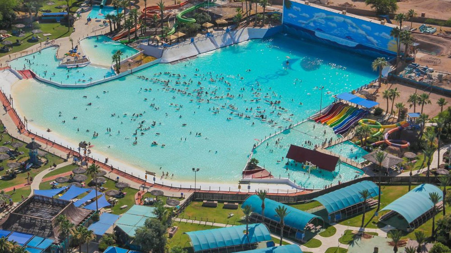 Firefighters were called to suppress a fire at an Arizona water park.