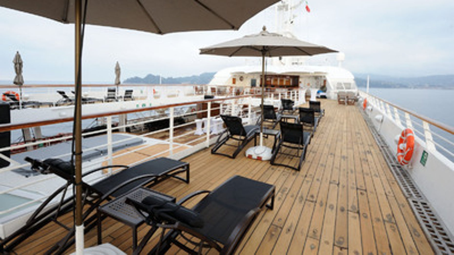 On deck of the Windstar Star Legend.