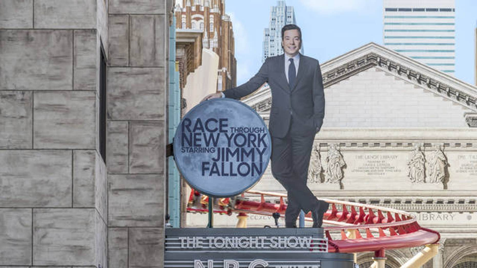 """""""Race Through New York Starring Jimmy Fallon"""" ride in Orlando, Fla. Universal is leading the theme-park charge into """"virtual lines"""" that give visitors options for exploring a park or watching live entertainment instead of the tedium of looking at someone's back as you inch forward step by step to the thrill ride."""