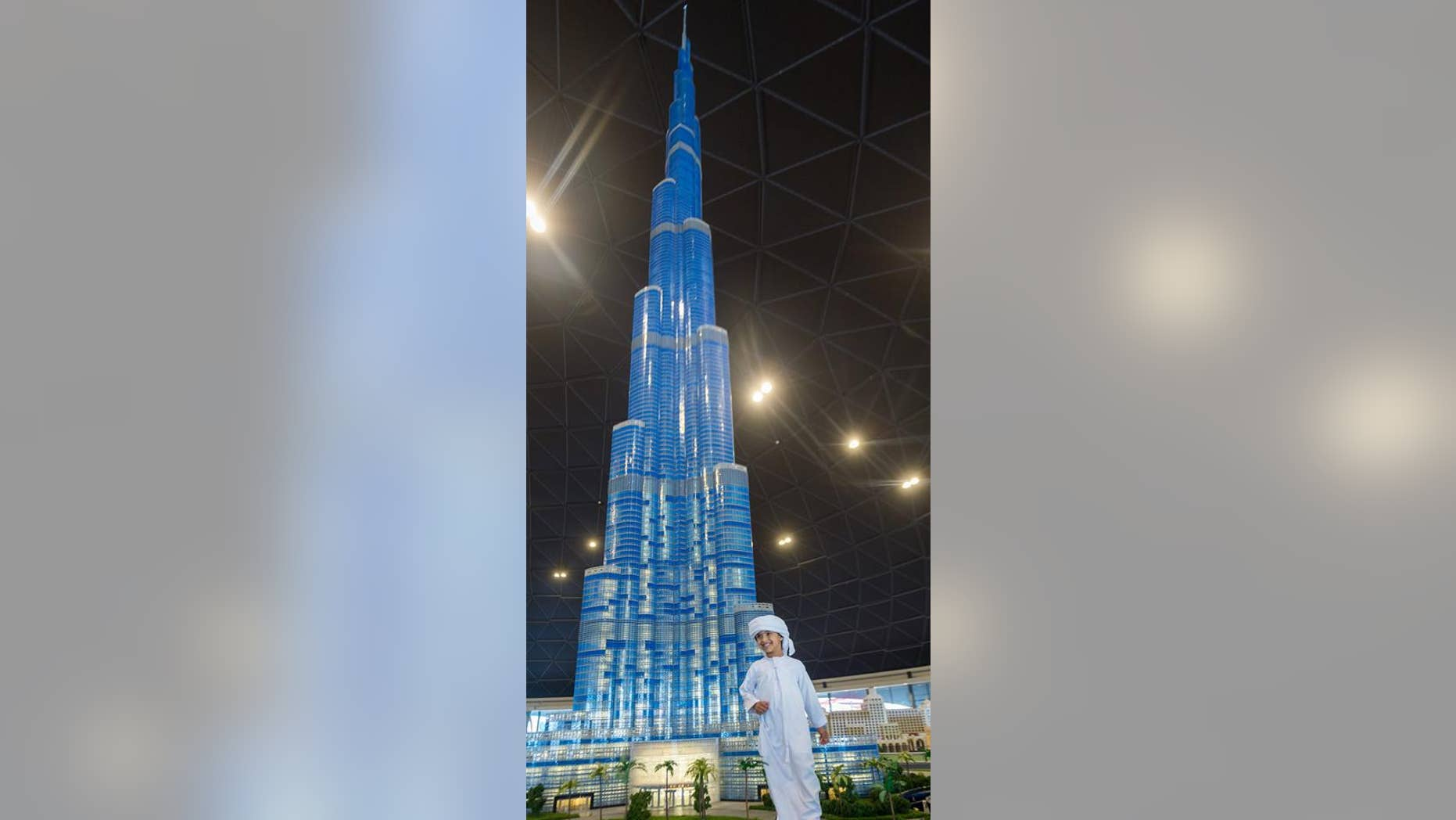 The mini Burj Khalifa is still an impressive site to behold.