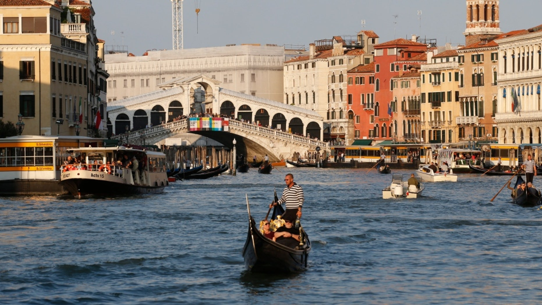 A New Zealand tourist jumped off The Rialto Bridge Friday. The bridge, built in 1591, is one of the most popular spots in the World Heritage city.