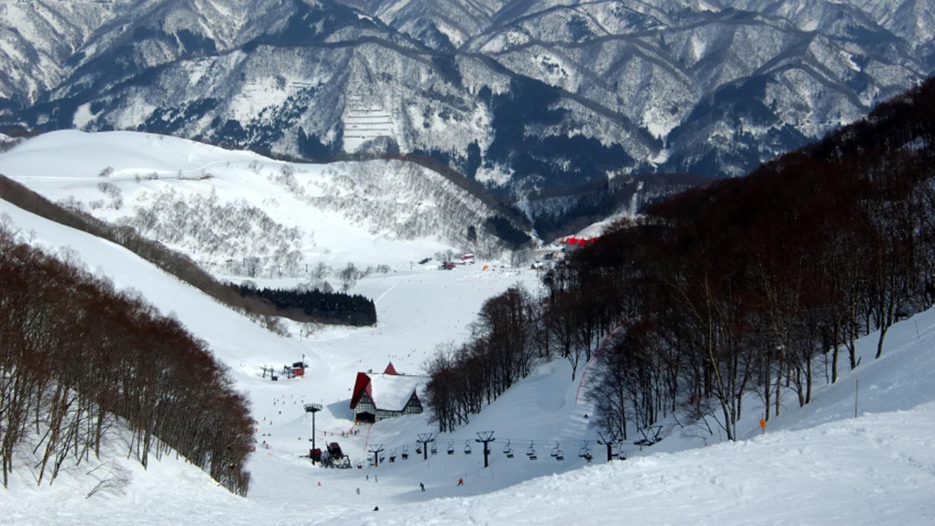Ski slopes in the Japanese alpes