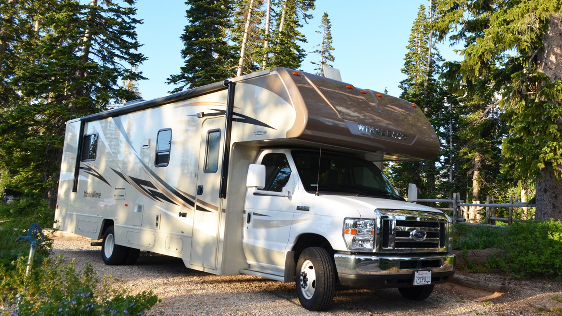 Our home for the week. The RV campground in Cedar Breaks National Monument.