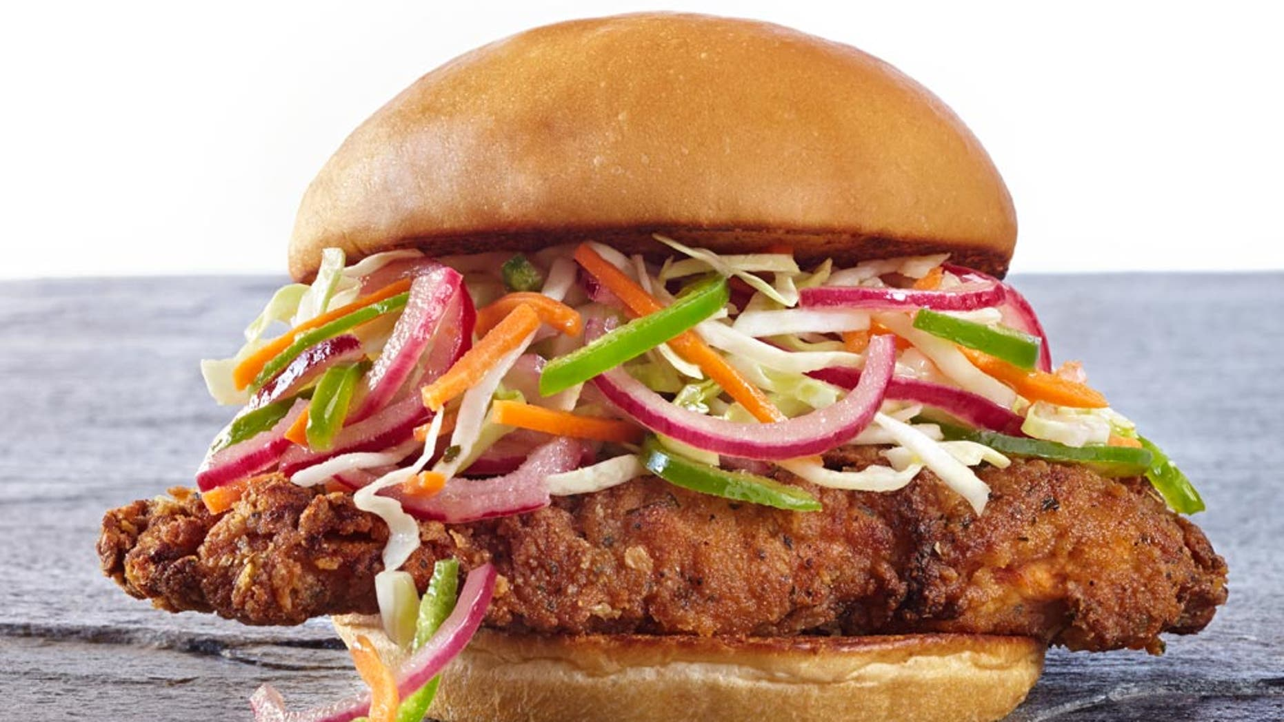 The spicy chicken sandwich is the signature menu item at the country first USDA-organic certified fast food joint.