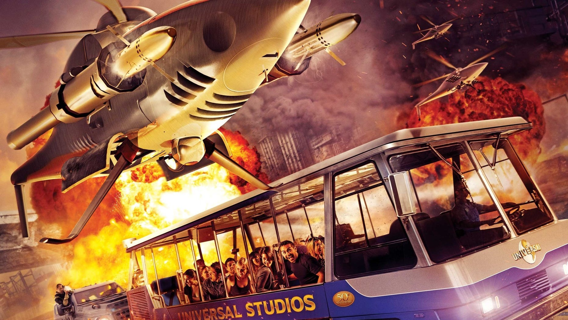 """The new """"Supercharged"""" ride involves the popular movie characters."""