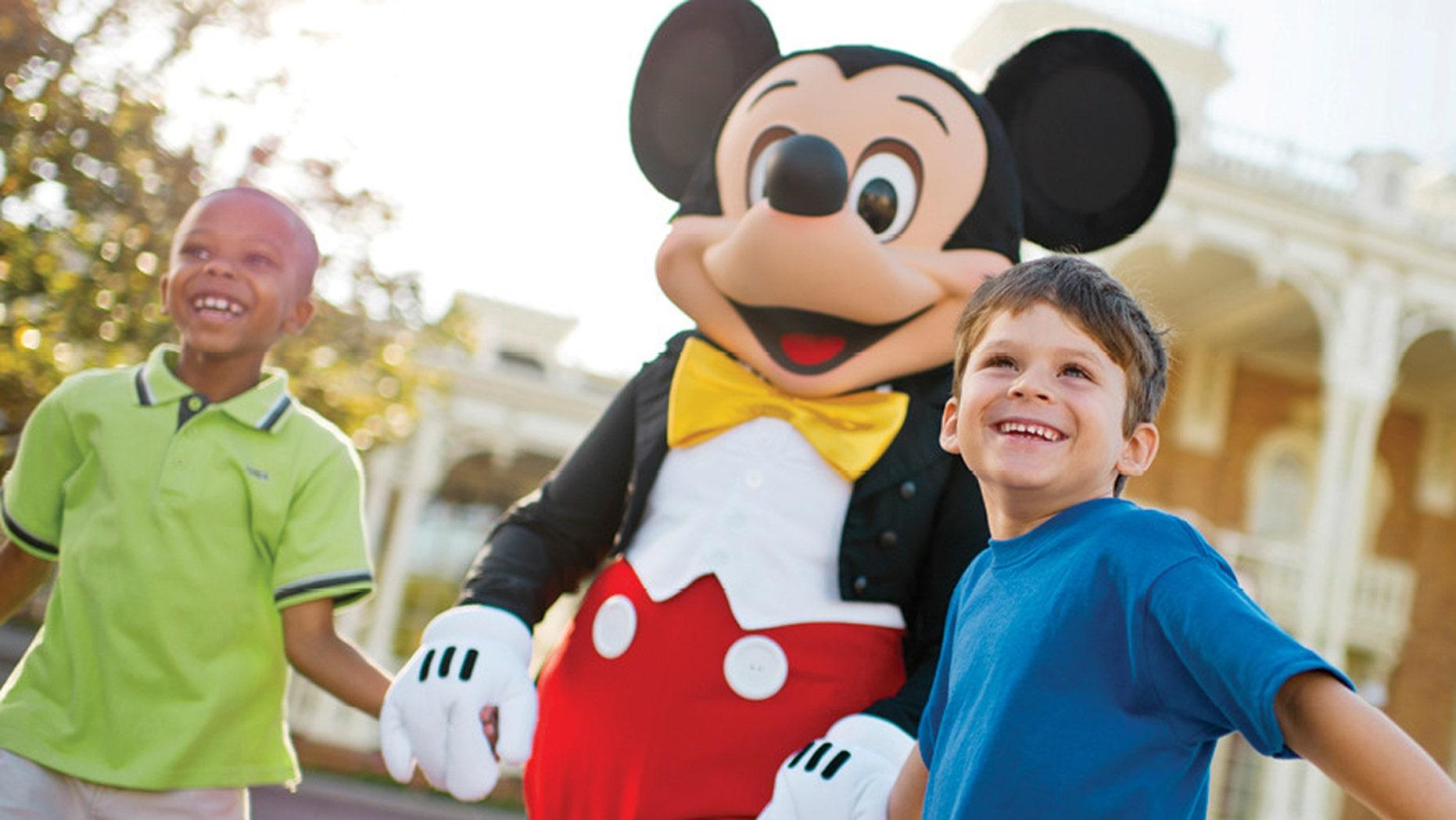 Invite Mickey to a backyard barbecue.