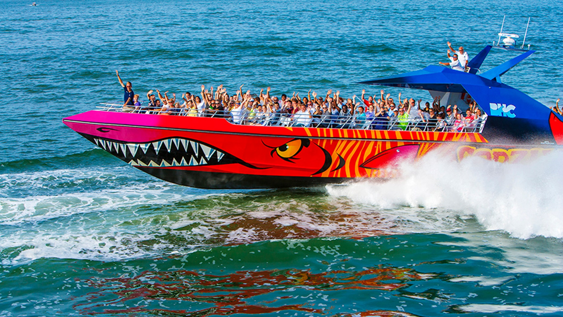 The large-capacity speedboat Codzilla was one of several boats involved in an accident Saturday.
