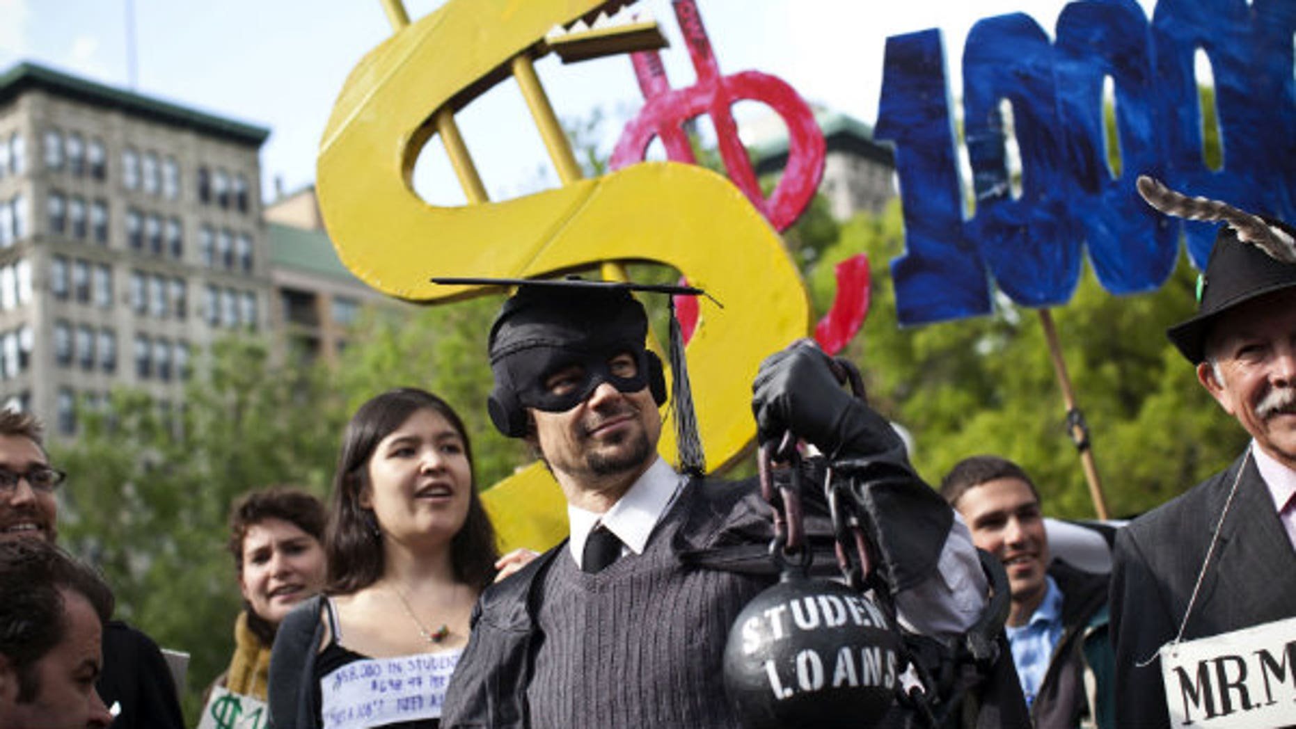 Protesting the student loan system.