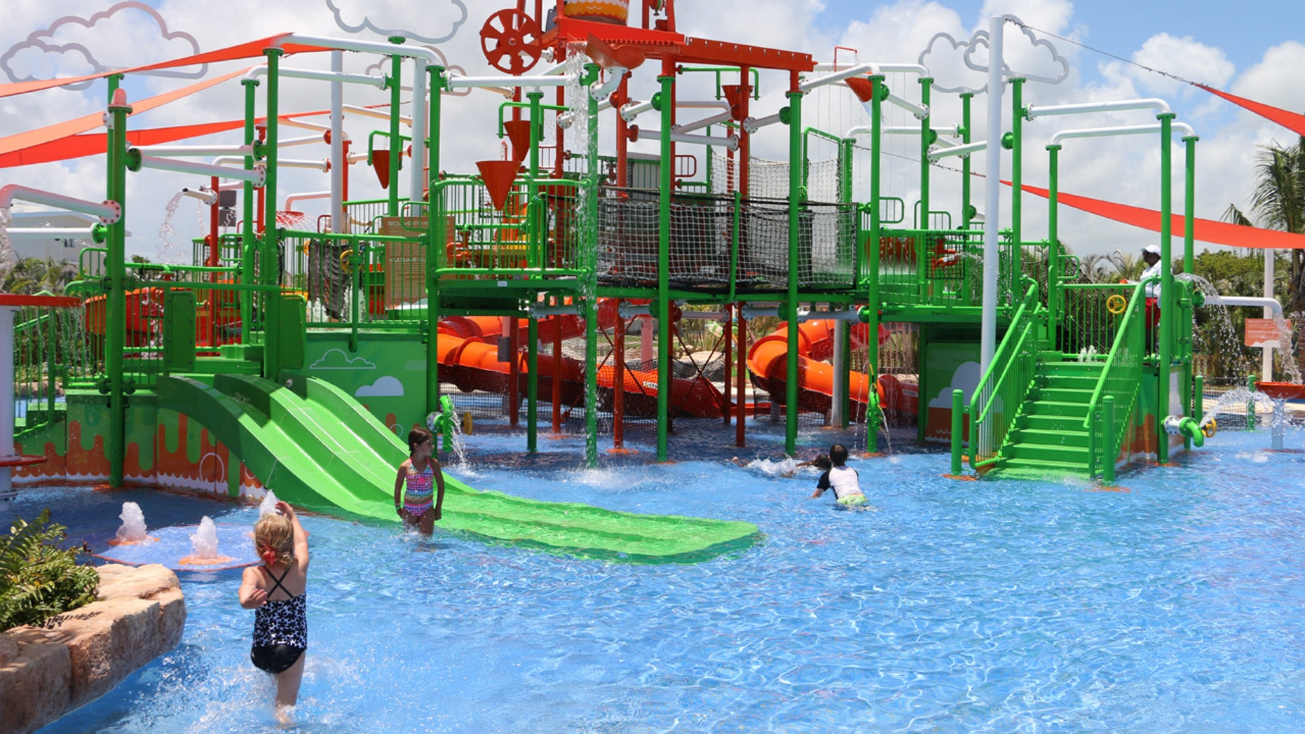 The Aqua Nick is an adult-sized water park that caters to kids of all ages.