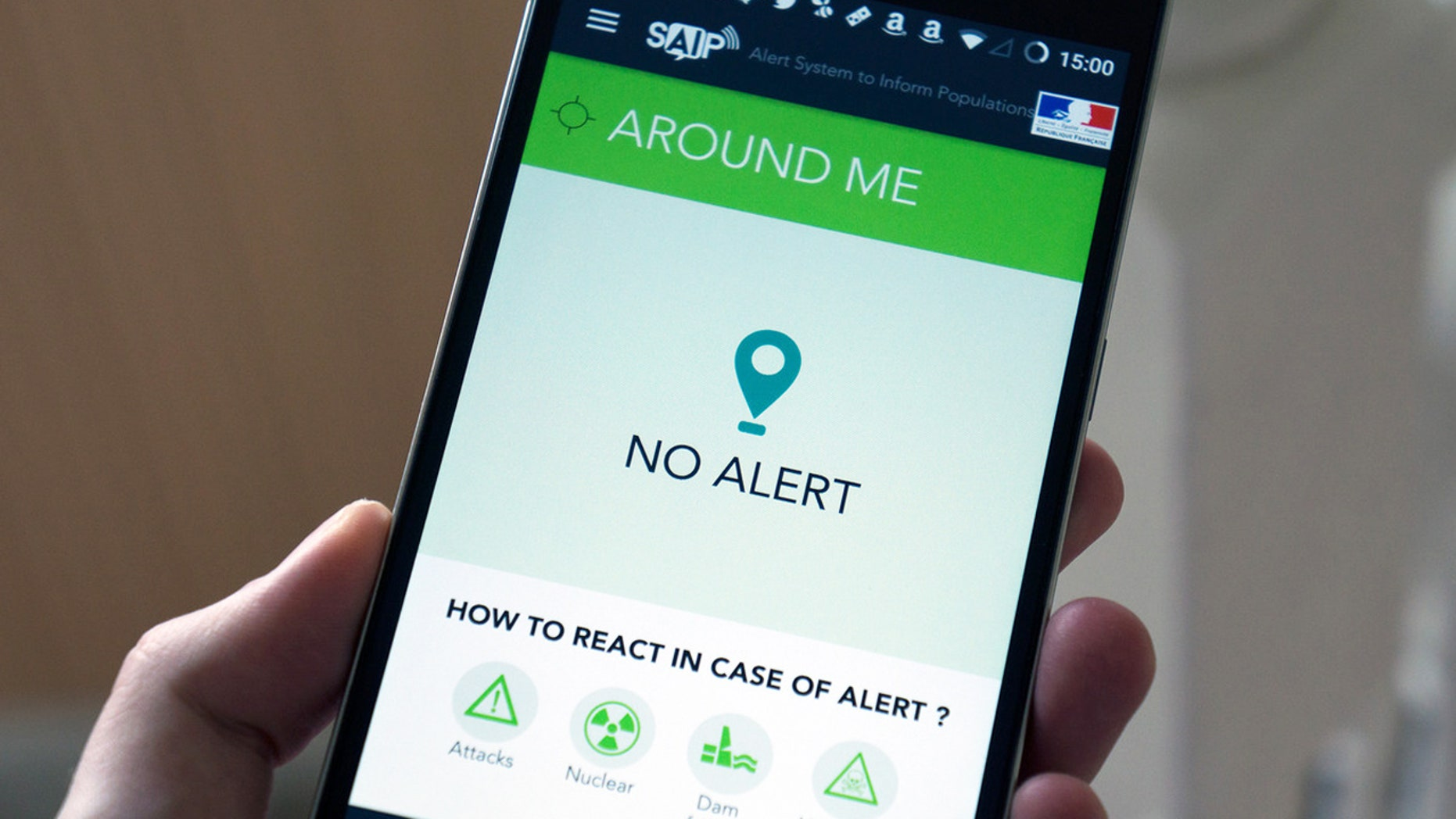 The French government's SAIP app will alert soccer fans to any safety tips and emergency information in French and English during Euro 2016.