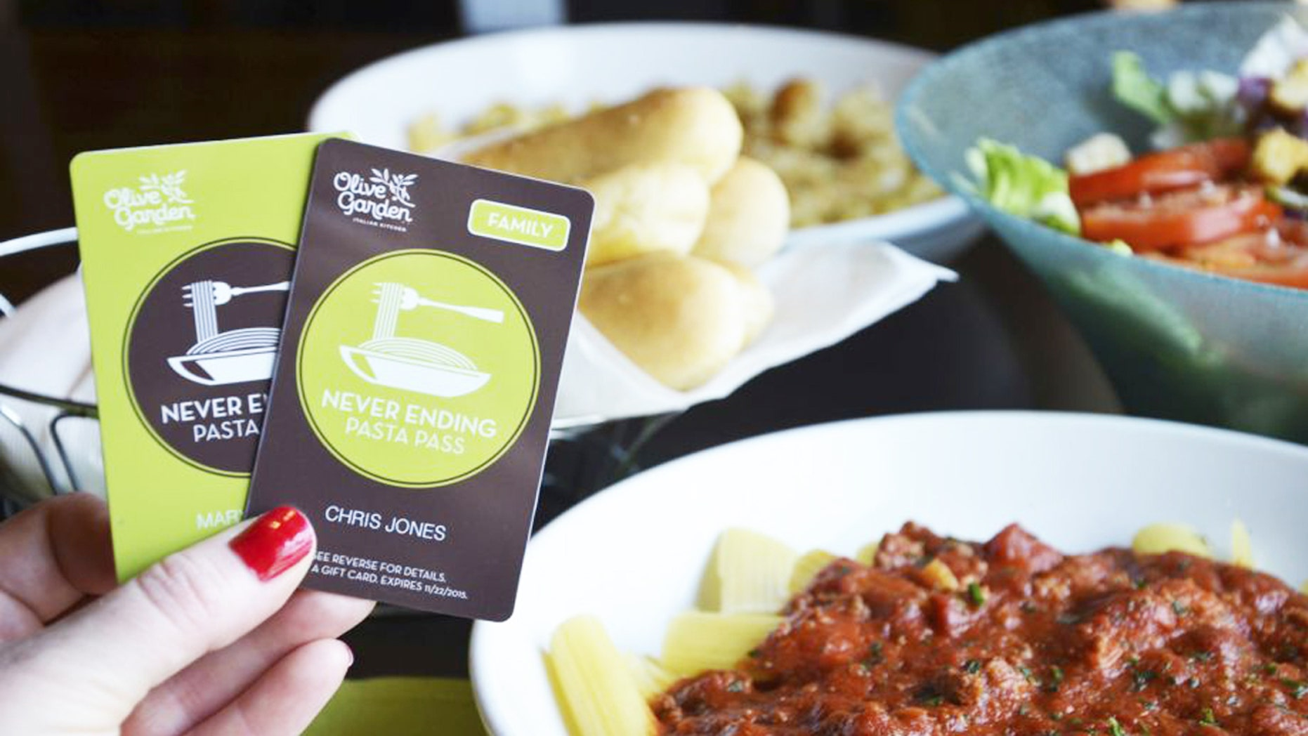 Never Ending Pasta Passes will be available in two options this year.