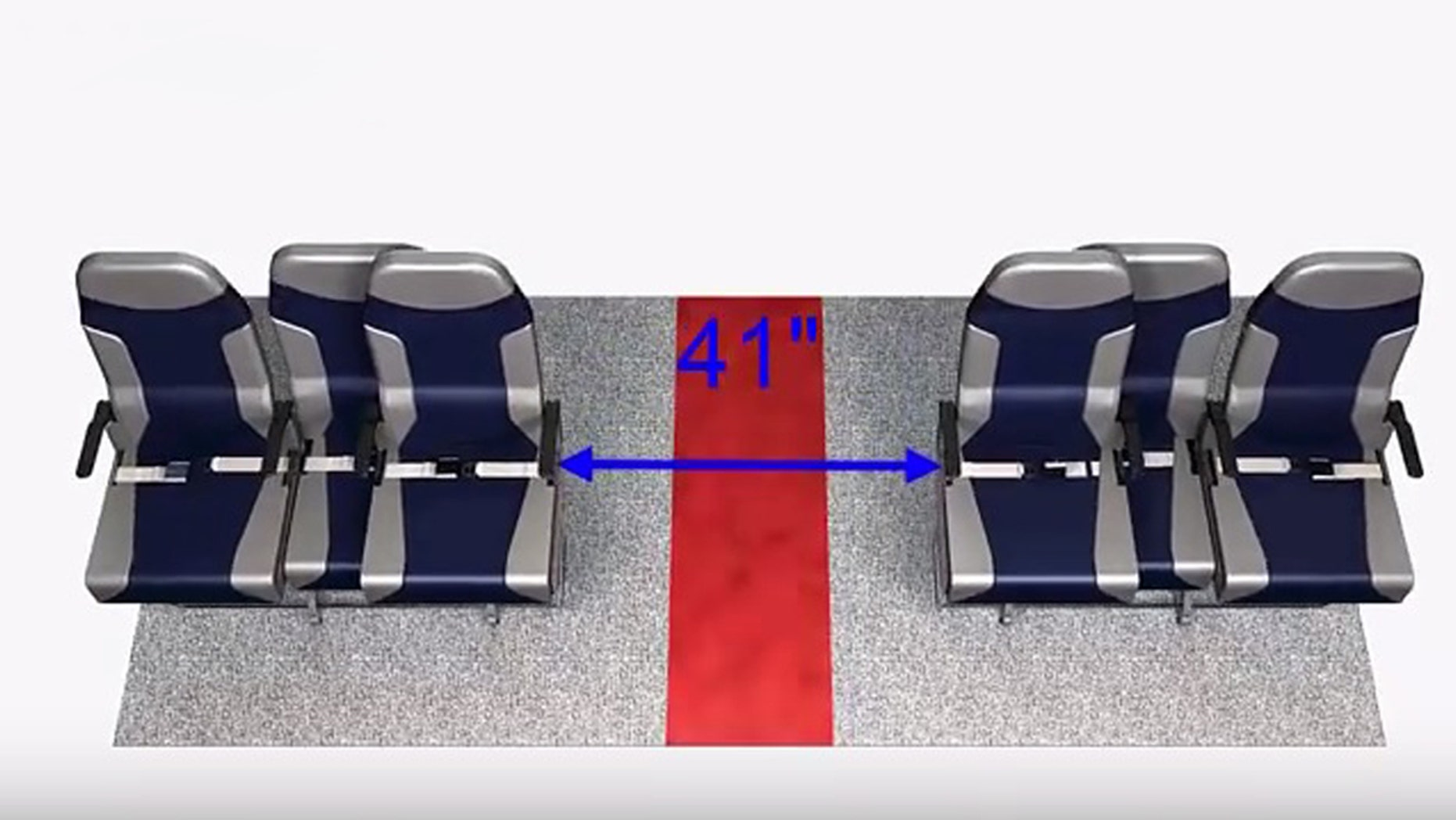 The aisle seats glide over to make room during boarding and deplaning.