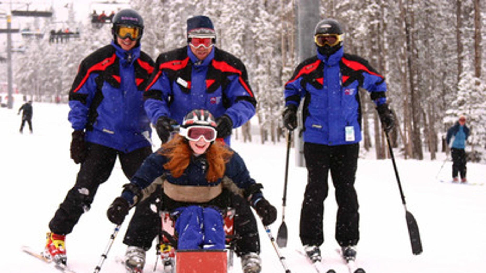 Adaptive skiing with the whole family at Breckenridge Outdoor Education Center.