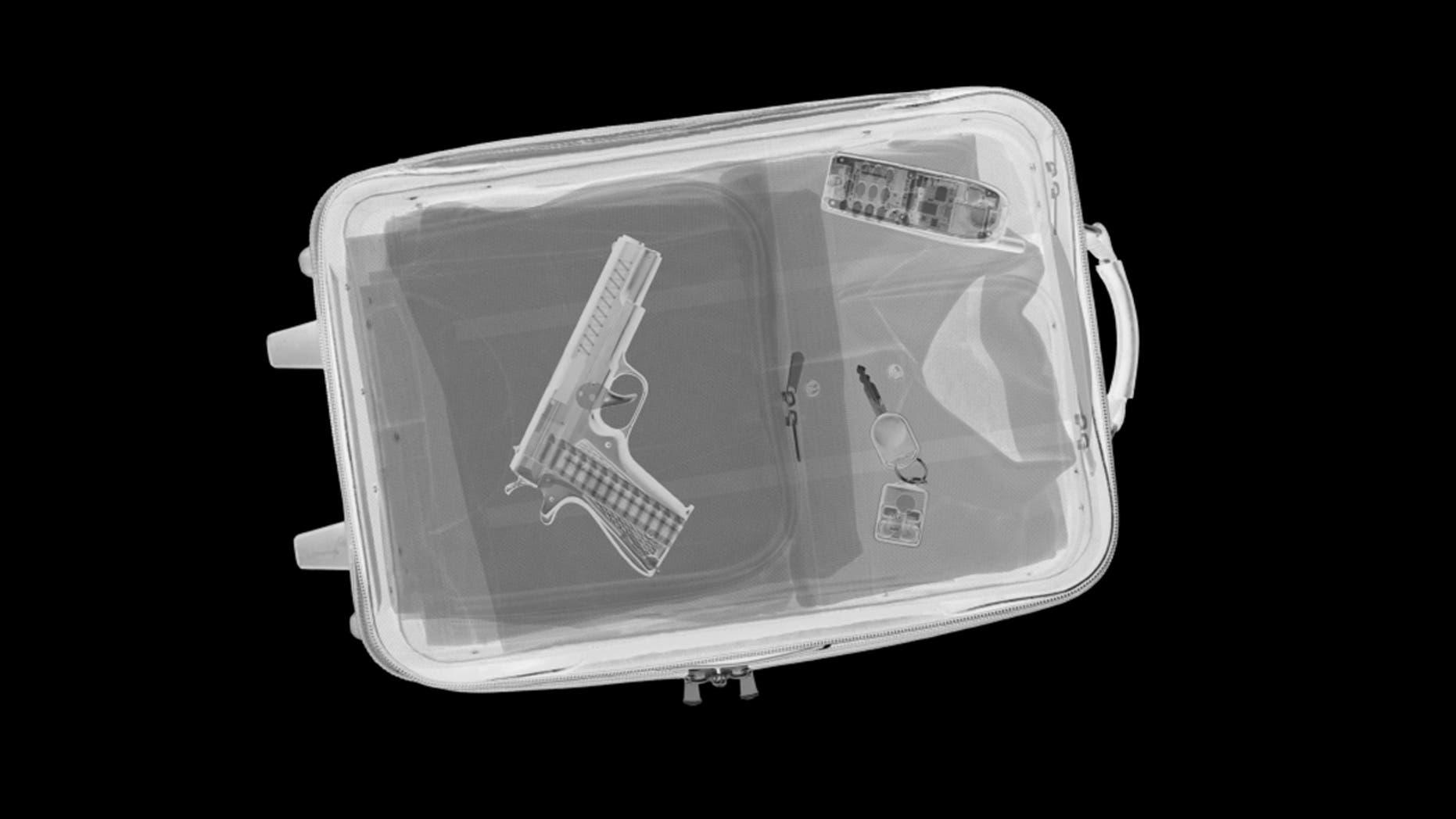 This packer didn't follow TSA guidelines.