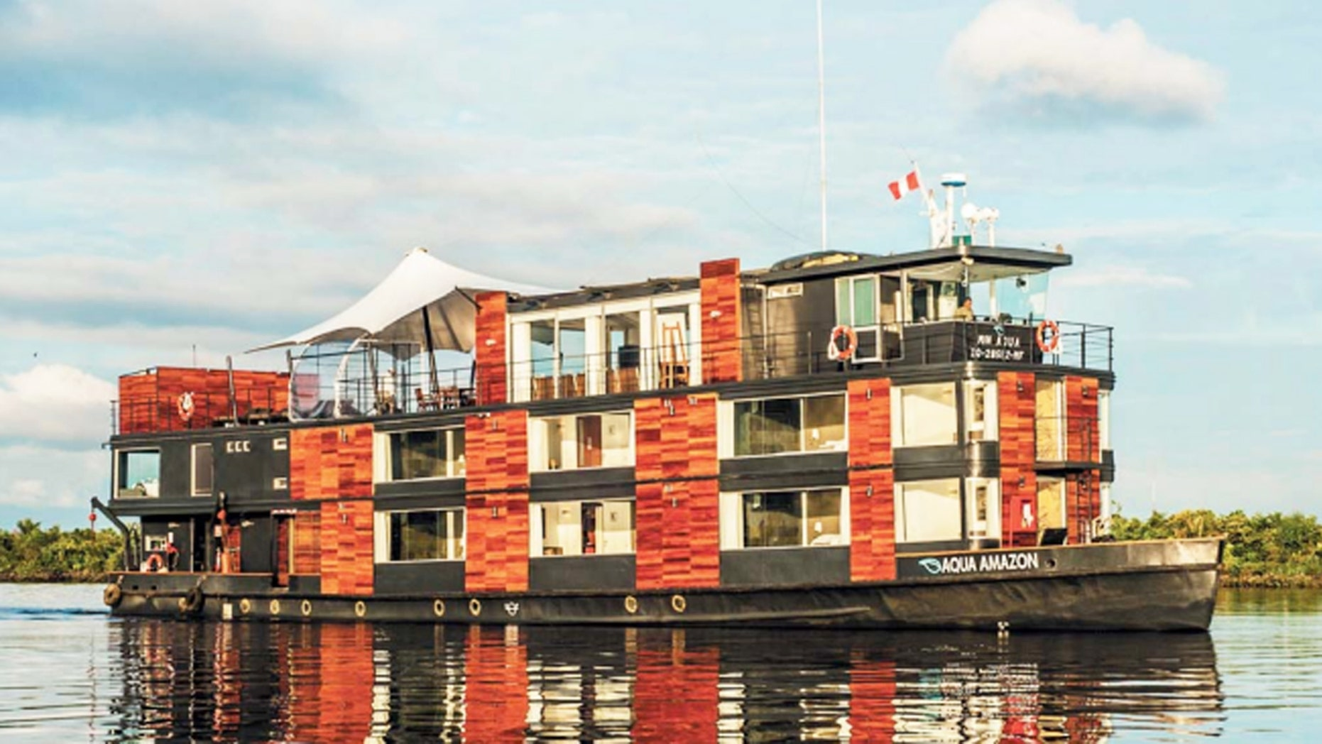 The 12-suite, 24-passenger river cruise vessel Aqua Amazon was recently renovated in 2015.