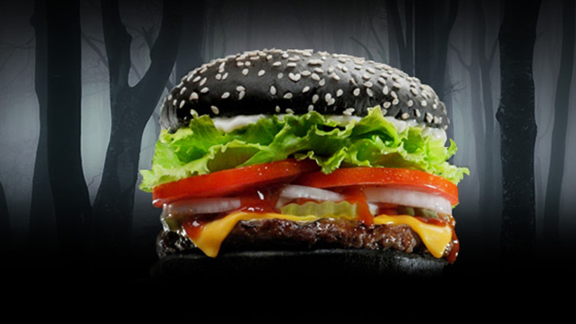 The A.1 Halloween burger has some spooky digestive side effects.