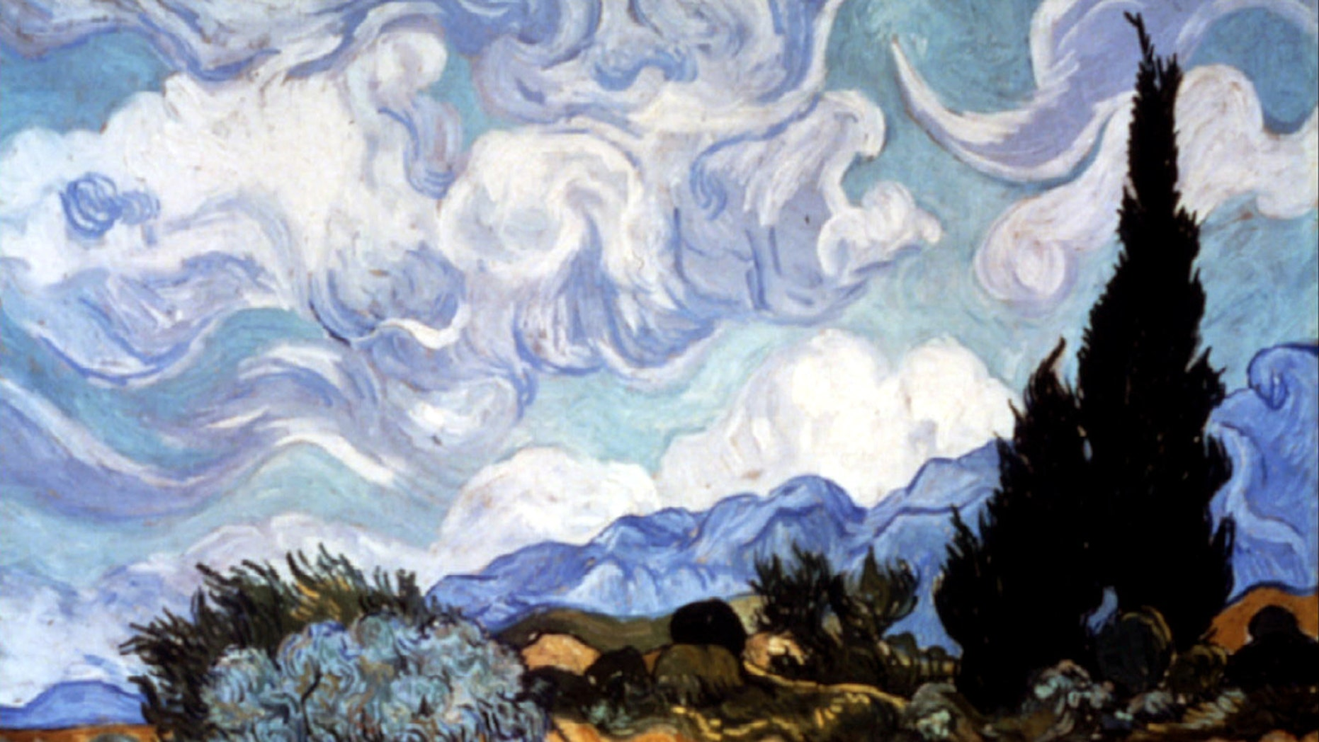 """Vincent van Gogh's """"Wheat Field with Cypresses"""" was donated to the Metropolitan Museum of Art in 1993."""
