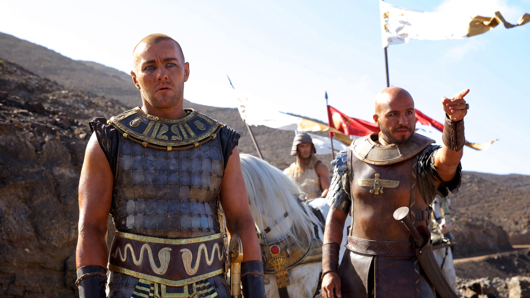 """Joel Edgerton, left, and Dar Salim in a scene from """"Exodus: Gods and Kings."""""""