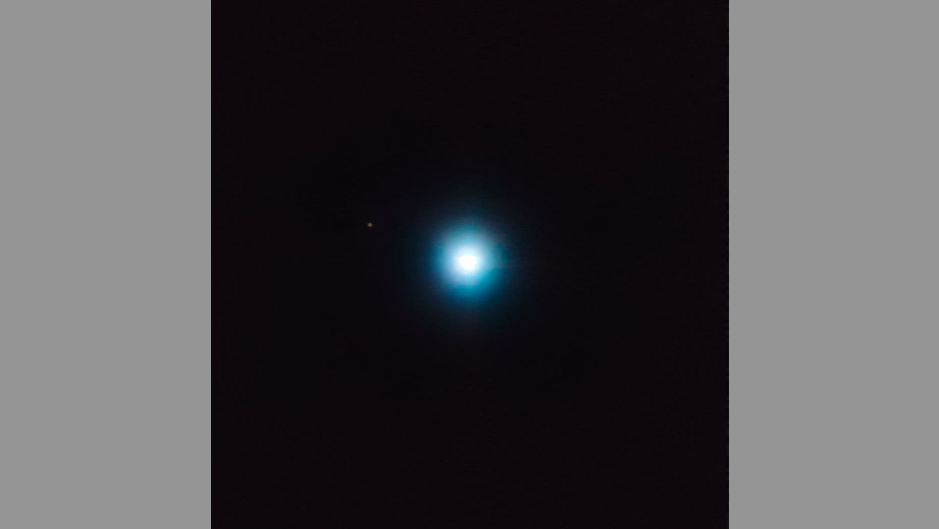 The Very Large Telescope in Chile captured this direct image of a likely exoplanet to the upper left of the star CVSO 30 (which is the bluish-white blob at center).
