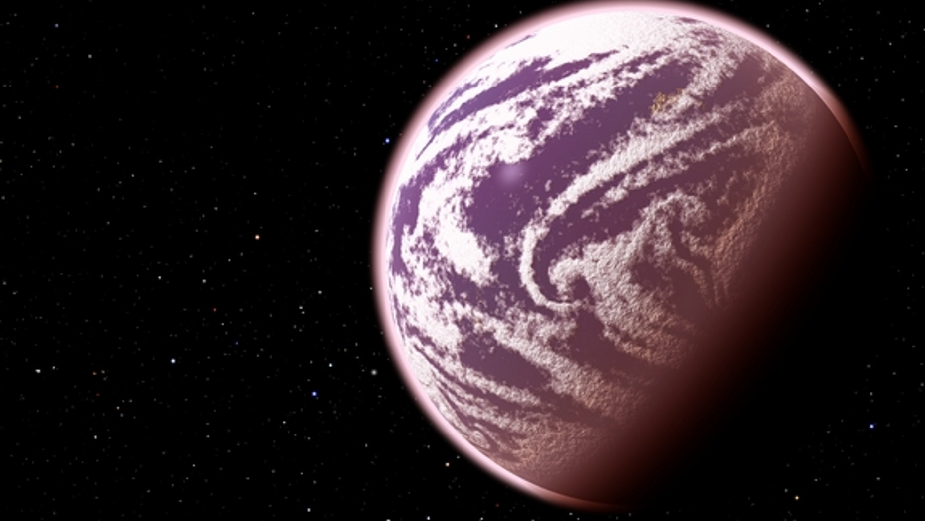 KOI-314c, shown in this artist's conception, is the lightest planet to have both its mass and physical size measured. Surprisingly, although the planet weighs the same as Earth, it is 60 percent larger in diameter, meaning that it must have a v
