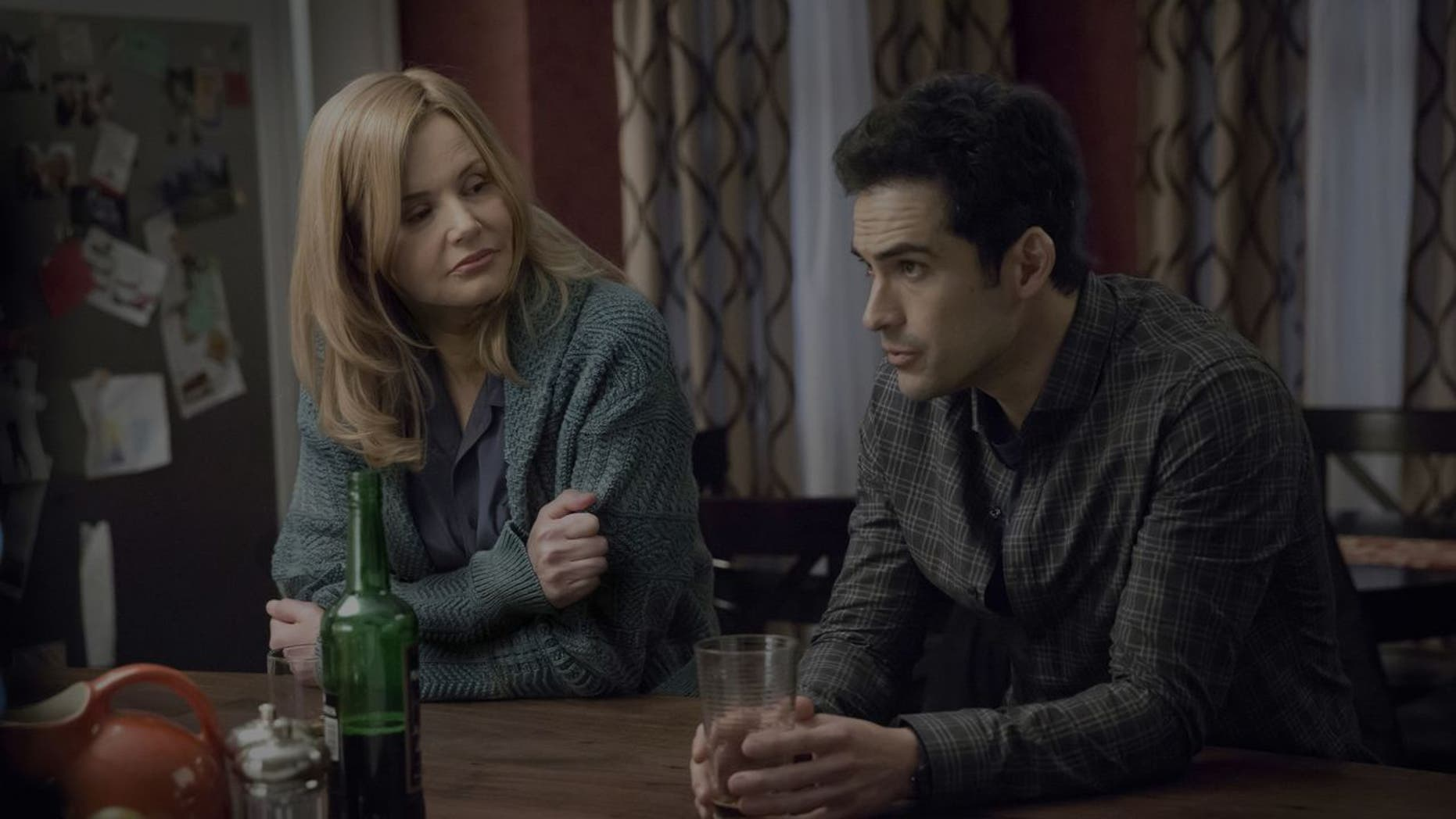 Ben Daniels and Geena Davis in 'The Exorcist.'