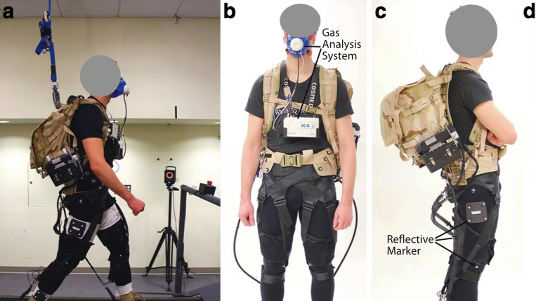 Treadmill tests helped researchers rate the efficiency of the newly developed exosuit.