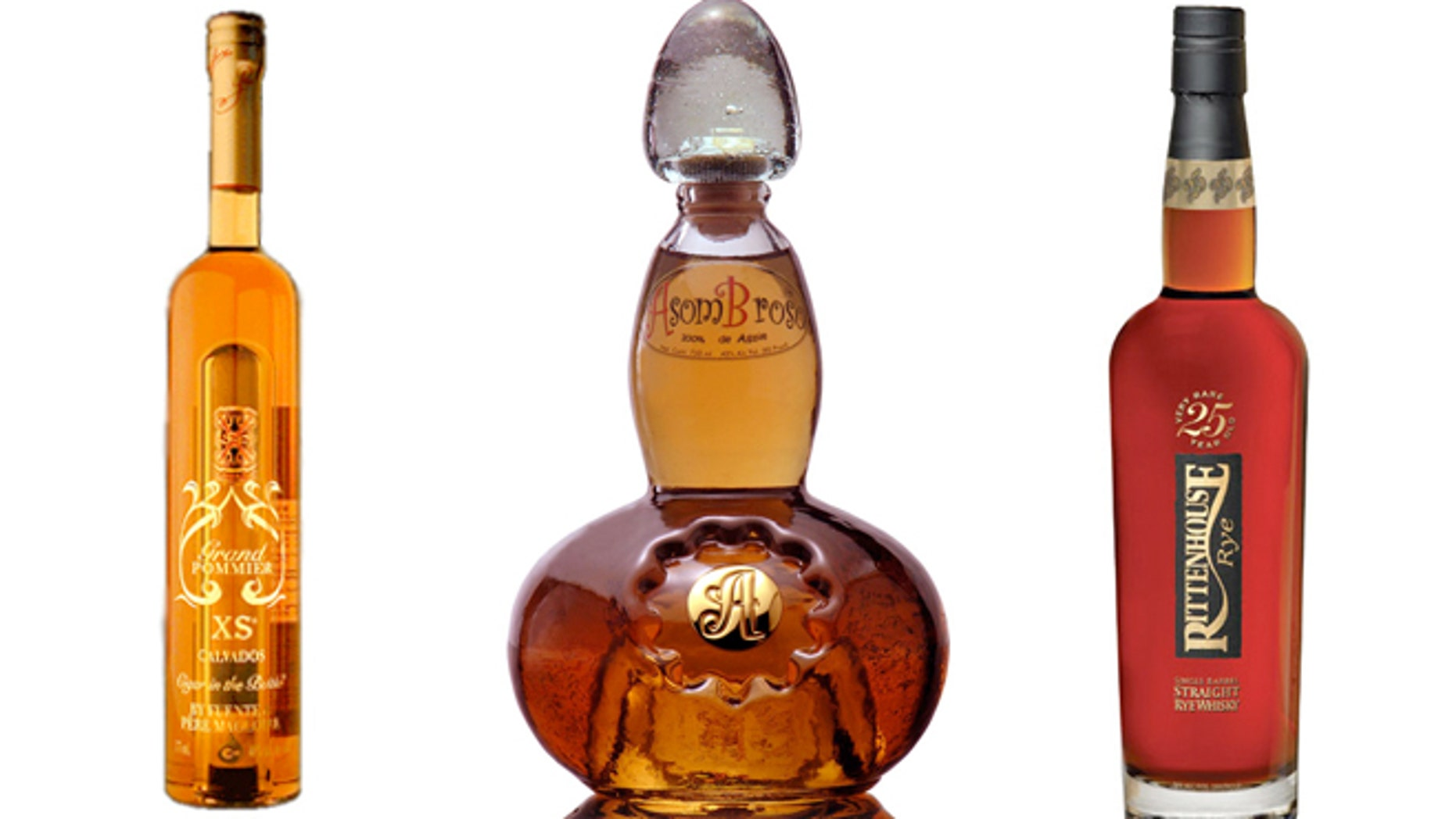 Pere Magloire Grand Pommier XS Calvados, AsomBroso 11-Year-Old Anejo Tequila and Rittenhouse Very Rare 25-Year-Old Single Barrel Rye are among the best liquor money can buy.