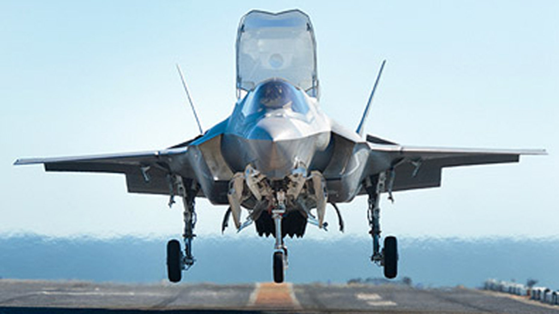 This photo shows an F-35 Lightning II jet. Lockheed Martin is making different variations of the plane for each branch of the service.