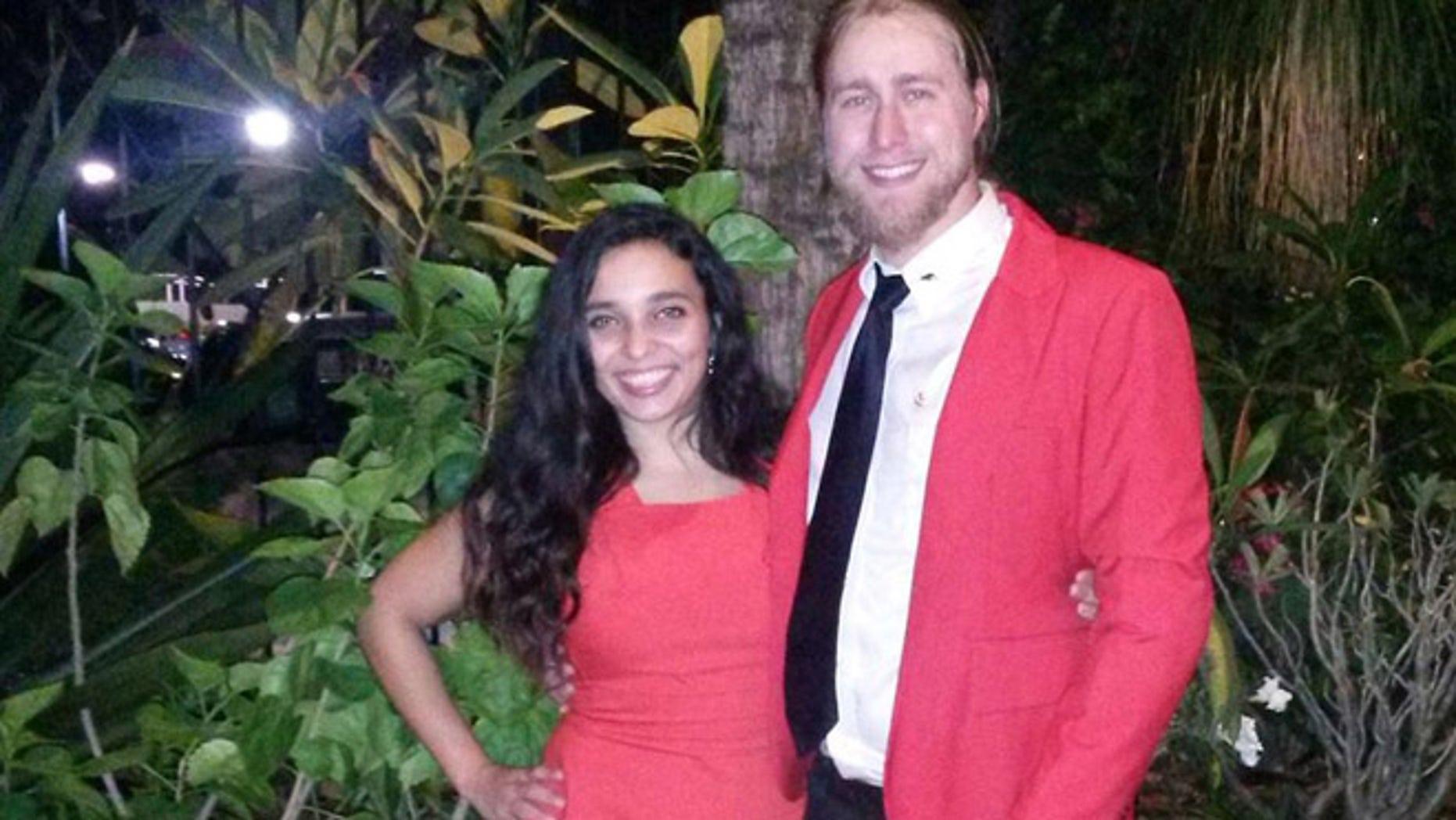 Barbara Jimenez and her boyfriend, John Fox, who were both injured in a car crash outside Havana, Cuba, in early August. (Source: GoFundMe page)