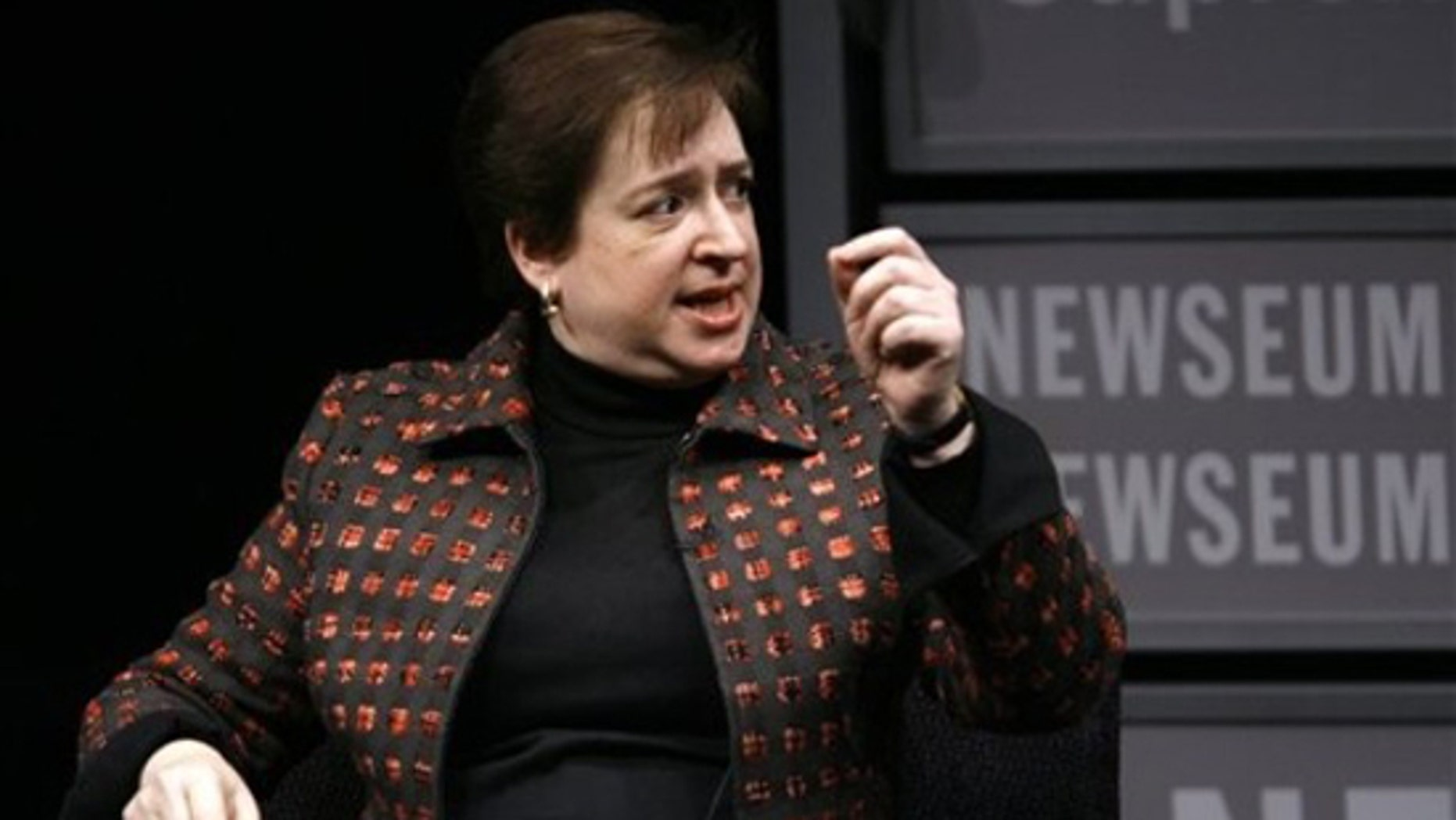 U.S. Solicitor General Elena Kagan speaks during a panel about Women Advocates of the Supreme Court Bar, Thursday, Jan. 28,2010, at the Newseum in Washington. (AP)